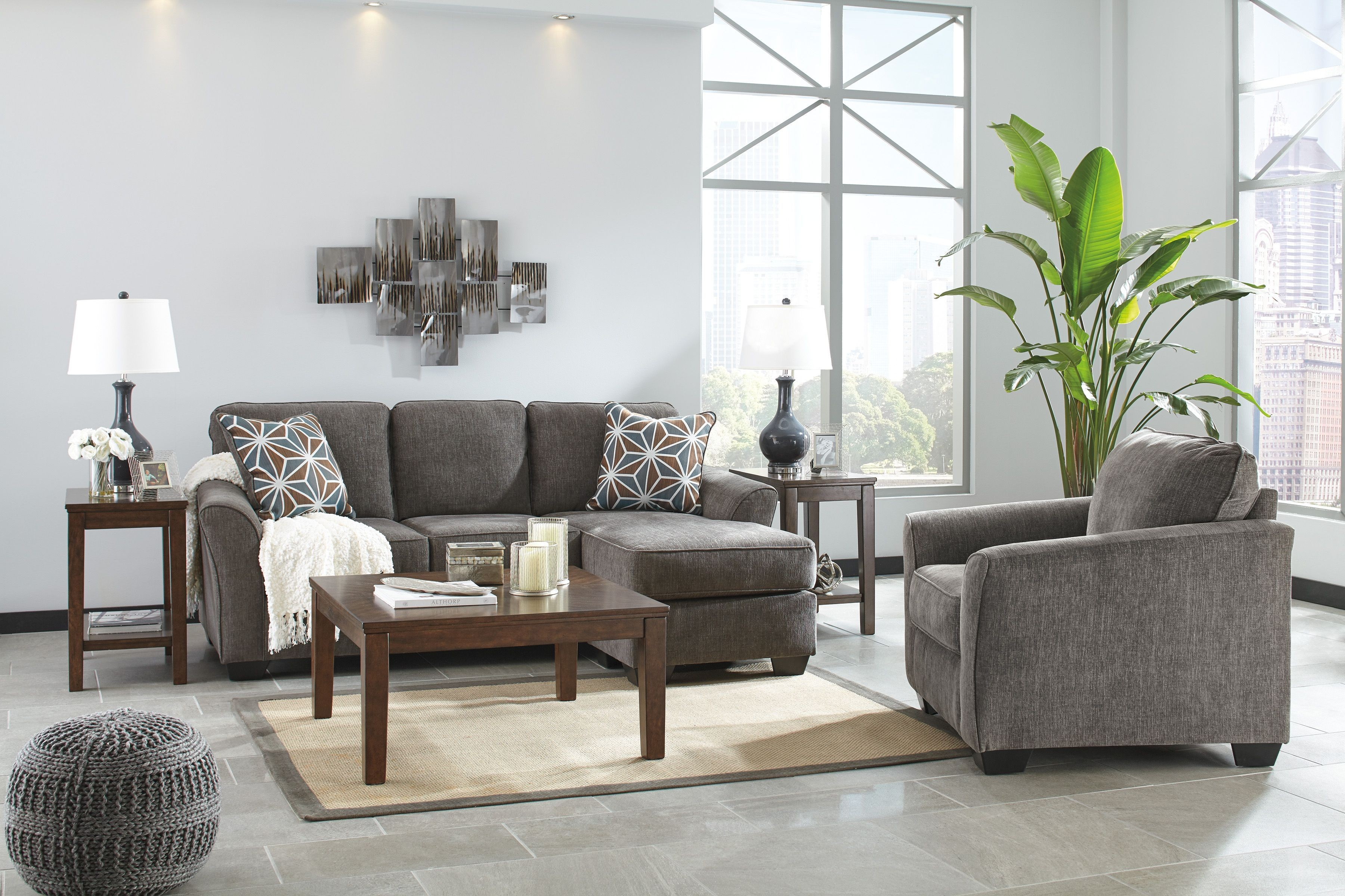 Marlinton Brown 3 Piece Occasional Table Set T052 13 Ashley