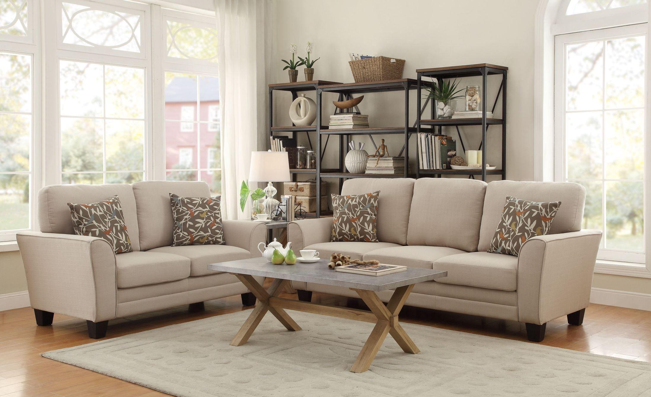 adair beige living room set from homelegance 8413be 3 coleman furniture