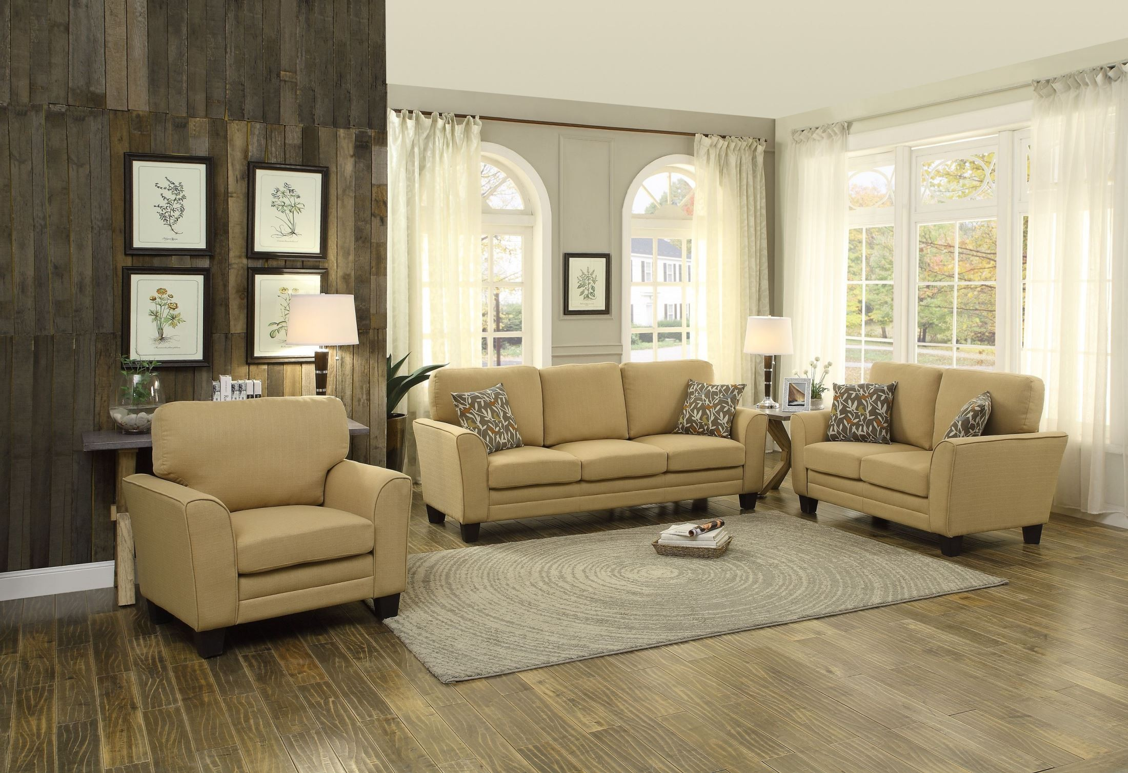 Adair yellow living room set from homelegance 8413yw 3 coleman