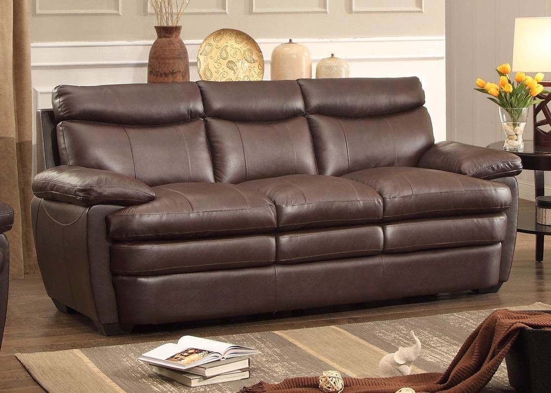 Rozel dark brown living room set from homelegance 8428 3 for Dark brown living room set