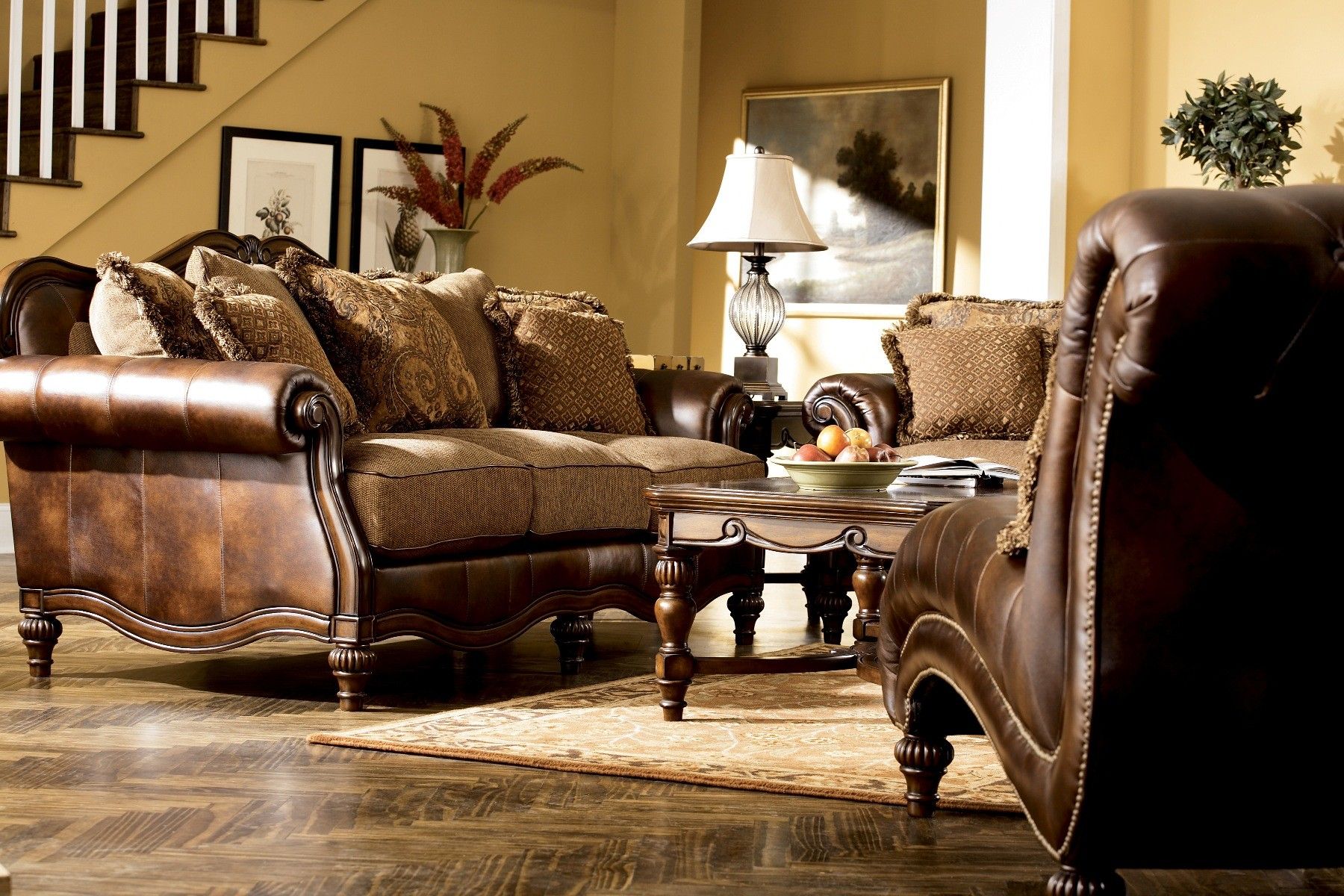 Claremore Antique Living Room Set from Ashley (84303)  Coleman ...
