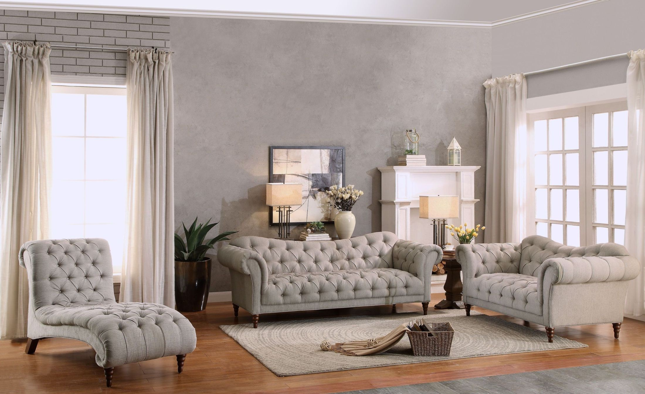 st claire gray living room set 2399340 homelegance