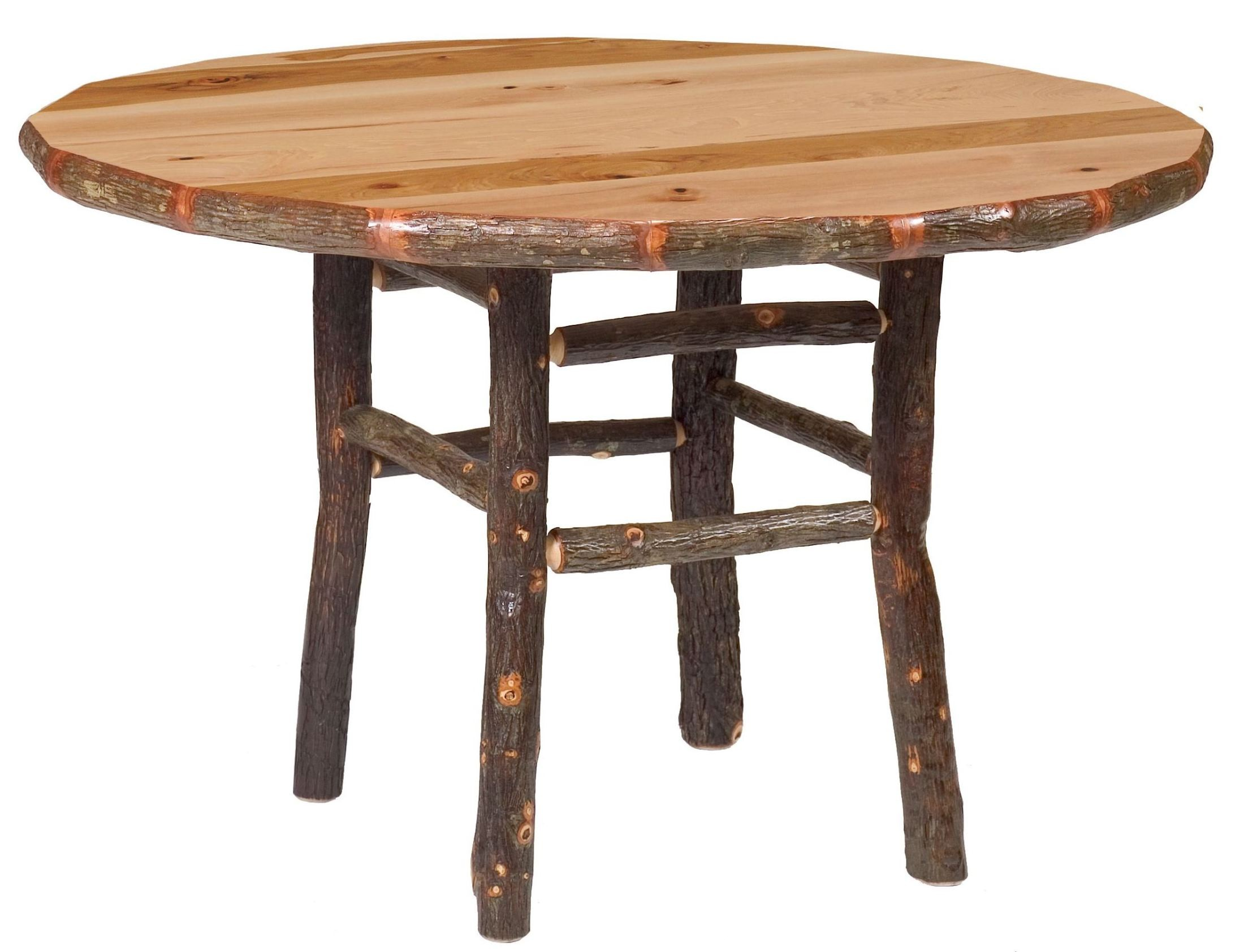 Hickory round 42 standard dining table from fireside for Standard dining table