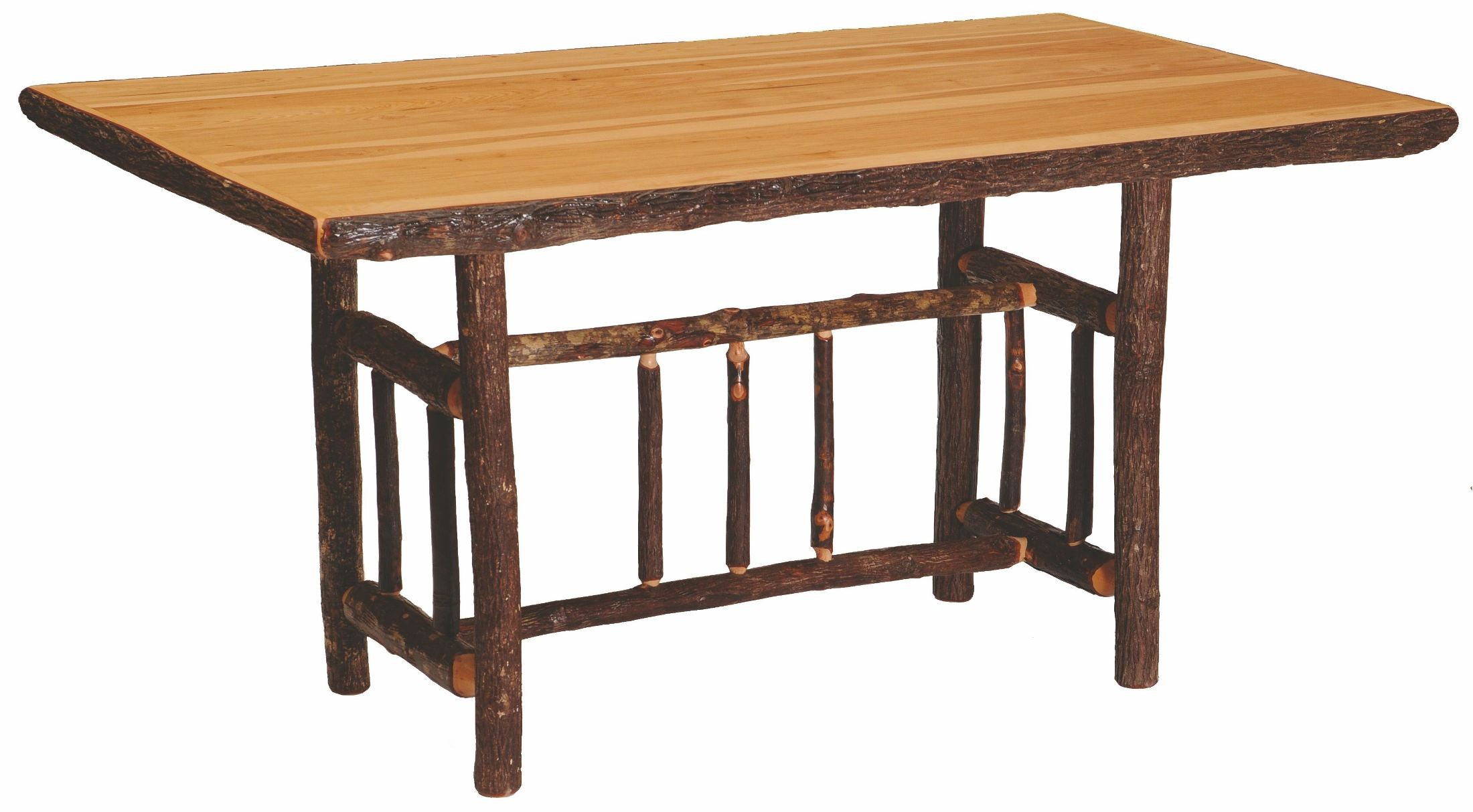hickory rectangular counter height standard dining table