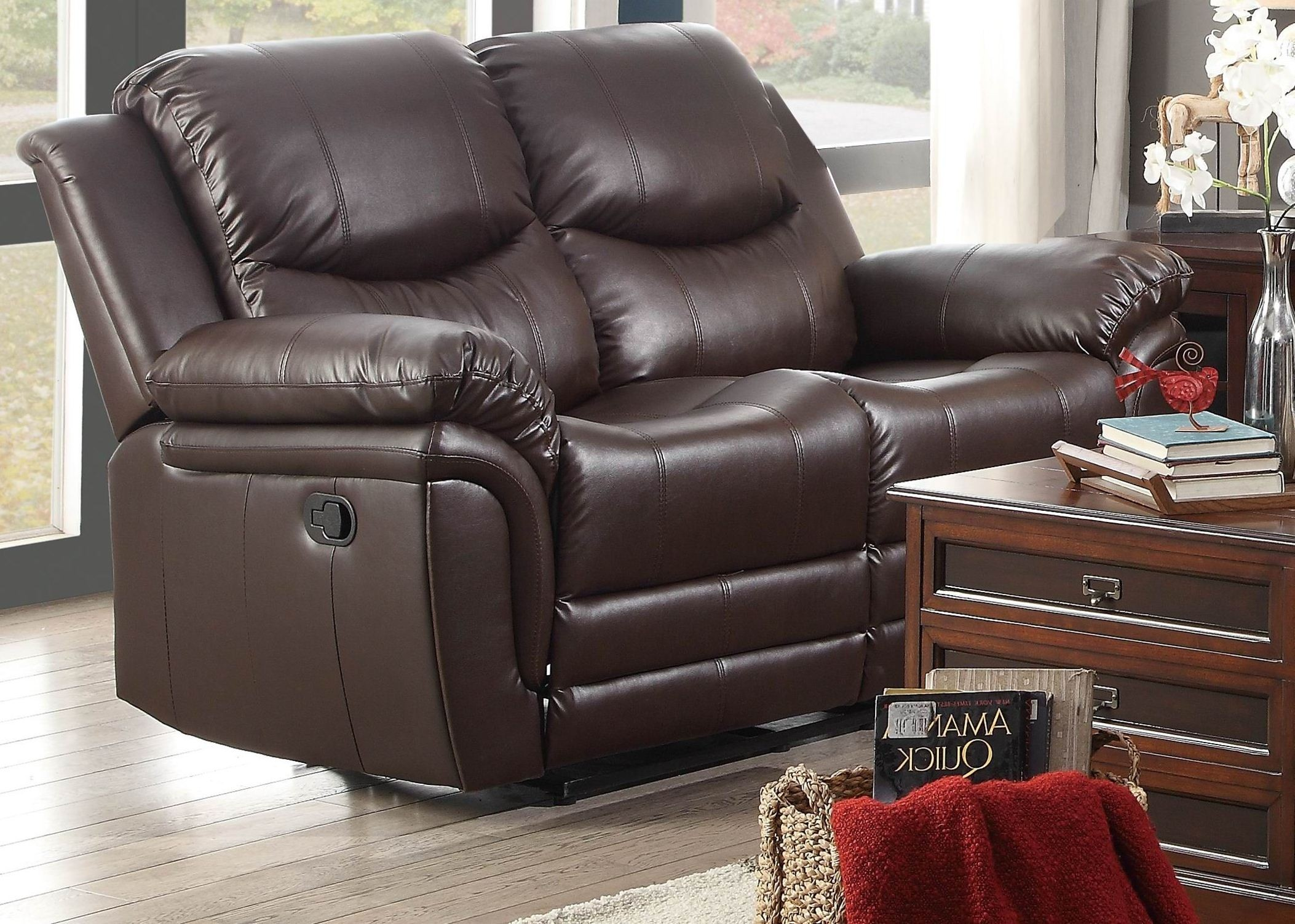 St Louis Park Double Reclining Living Room Set From Homelegance 8515brw 3 Coleman Furniture
