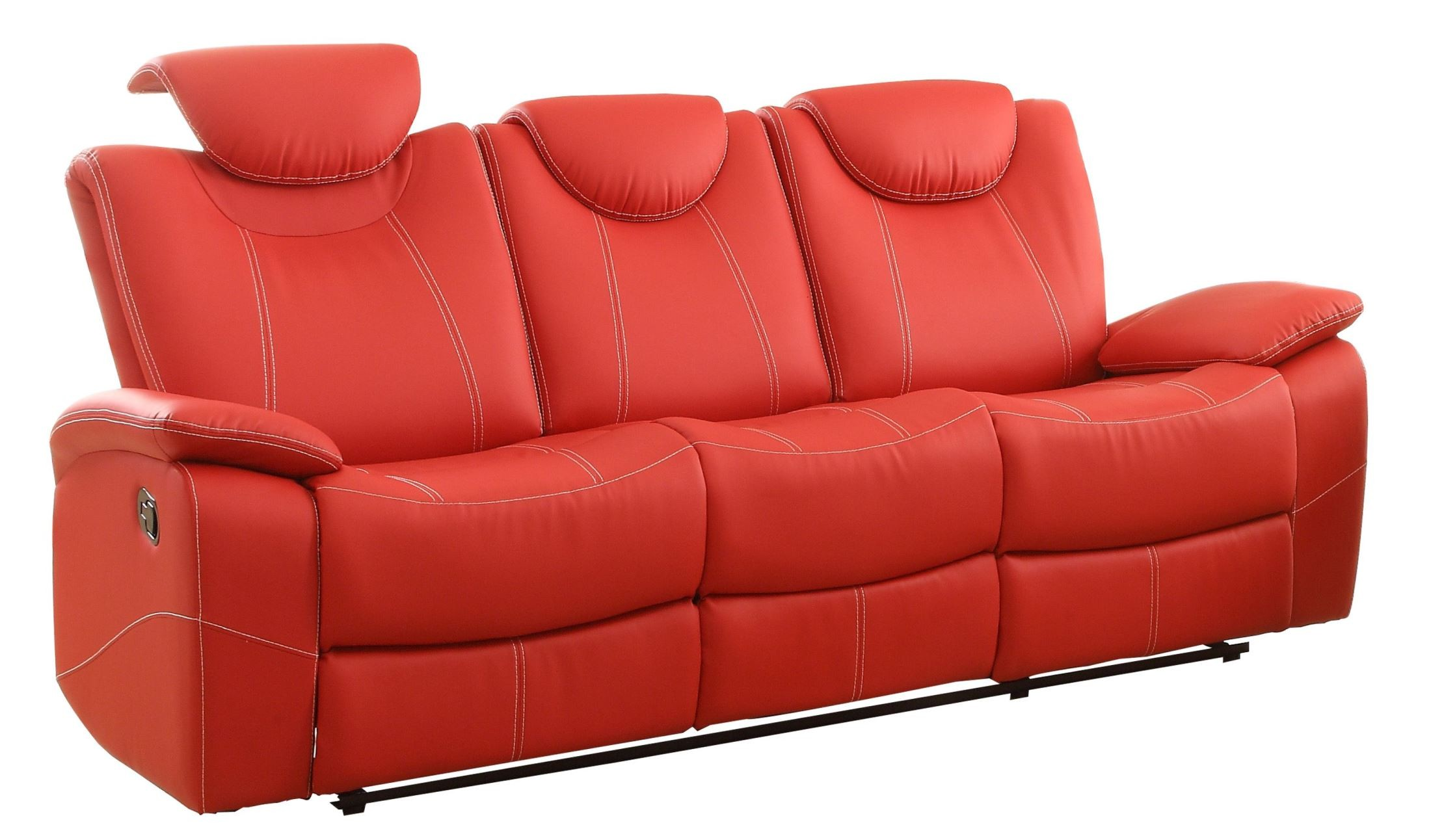 Talbot Red Double Reclining Sofa From Homelegance 8524rd 3 Coleman Furniture