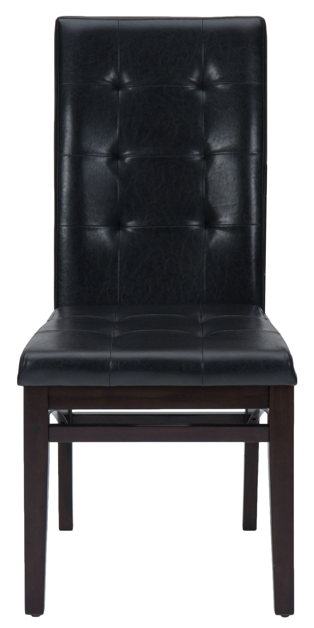chadwick espresso faux leather tufted back upholstered dining chair 863 945kd jofran. Black Bedroom Furniture Sets. Home Design Ideas