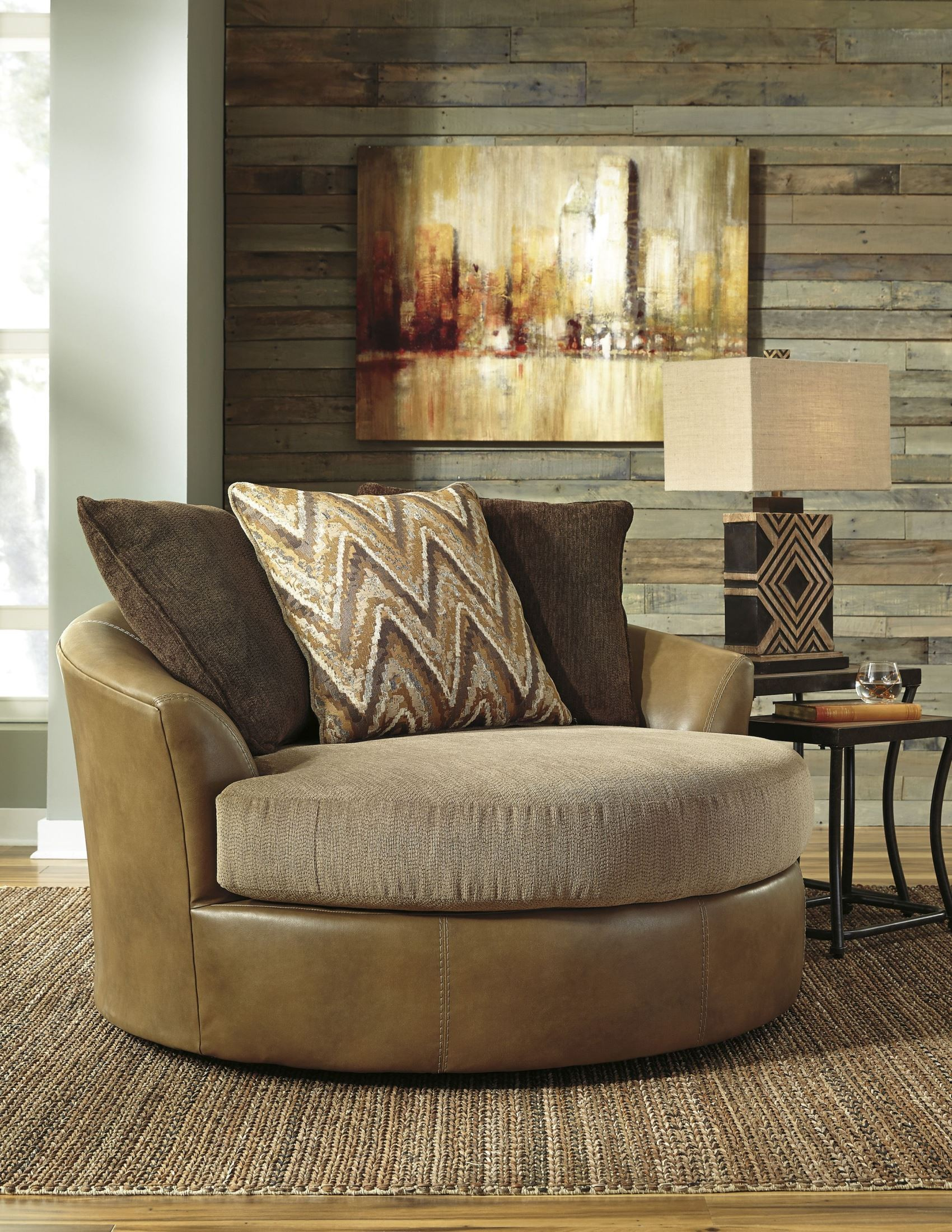 Declain Sand Oversized Swivel Accent Chair from Ashley ...