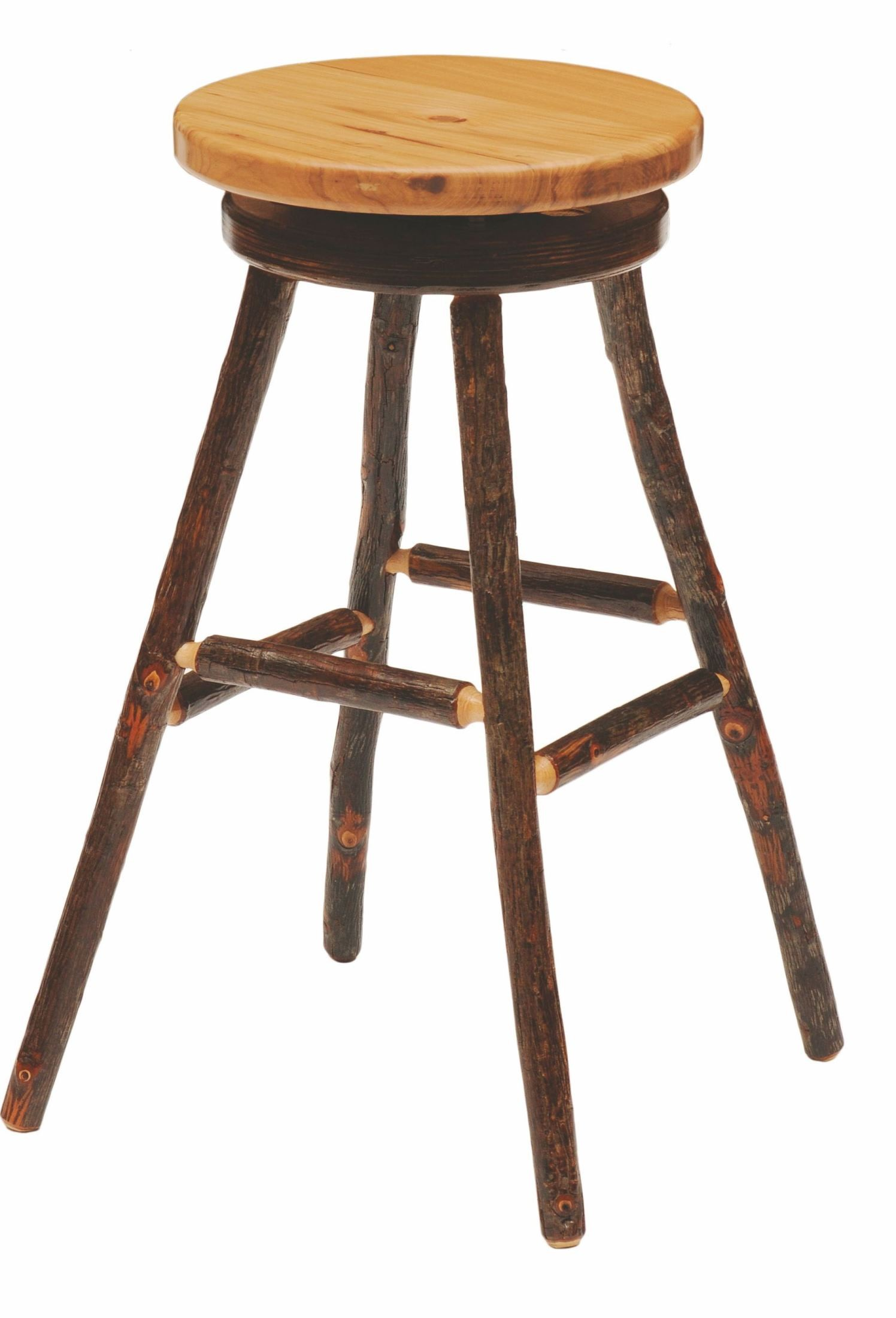 Hickory Hickory Seat 30 Quot Swivel Round Bar Stool From