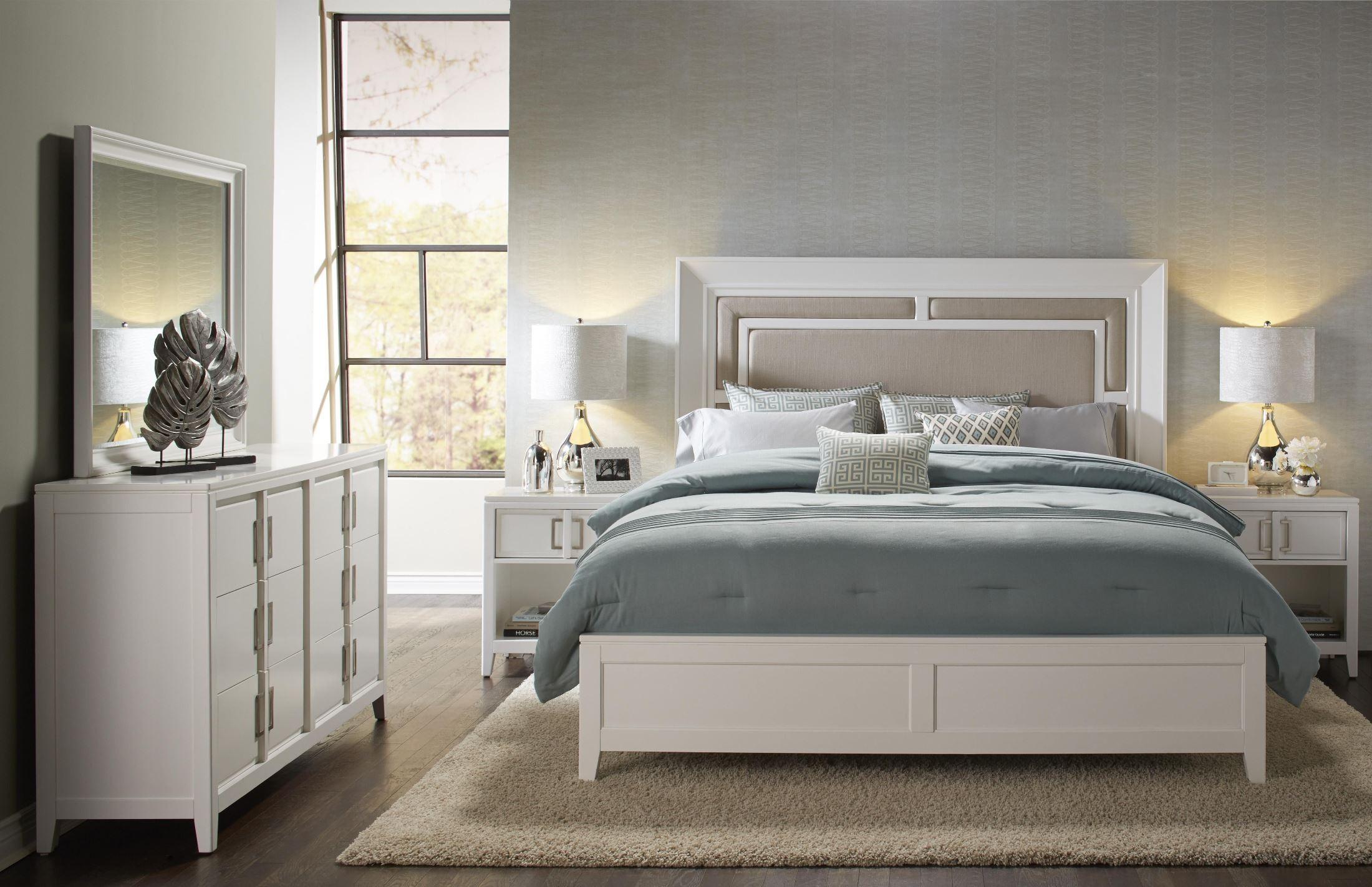 brighton white cal king size panel bed 8673 270 271 406 samuel lawrence. Black Bedroom Furniture Sets. Home Design Ideas