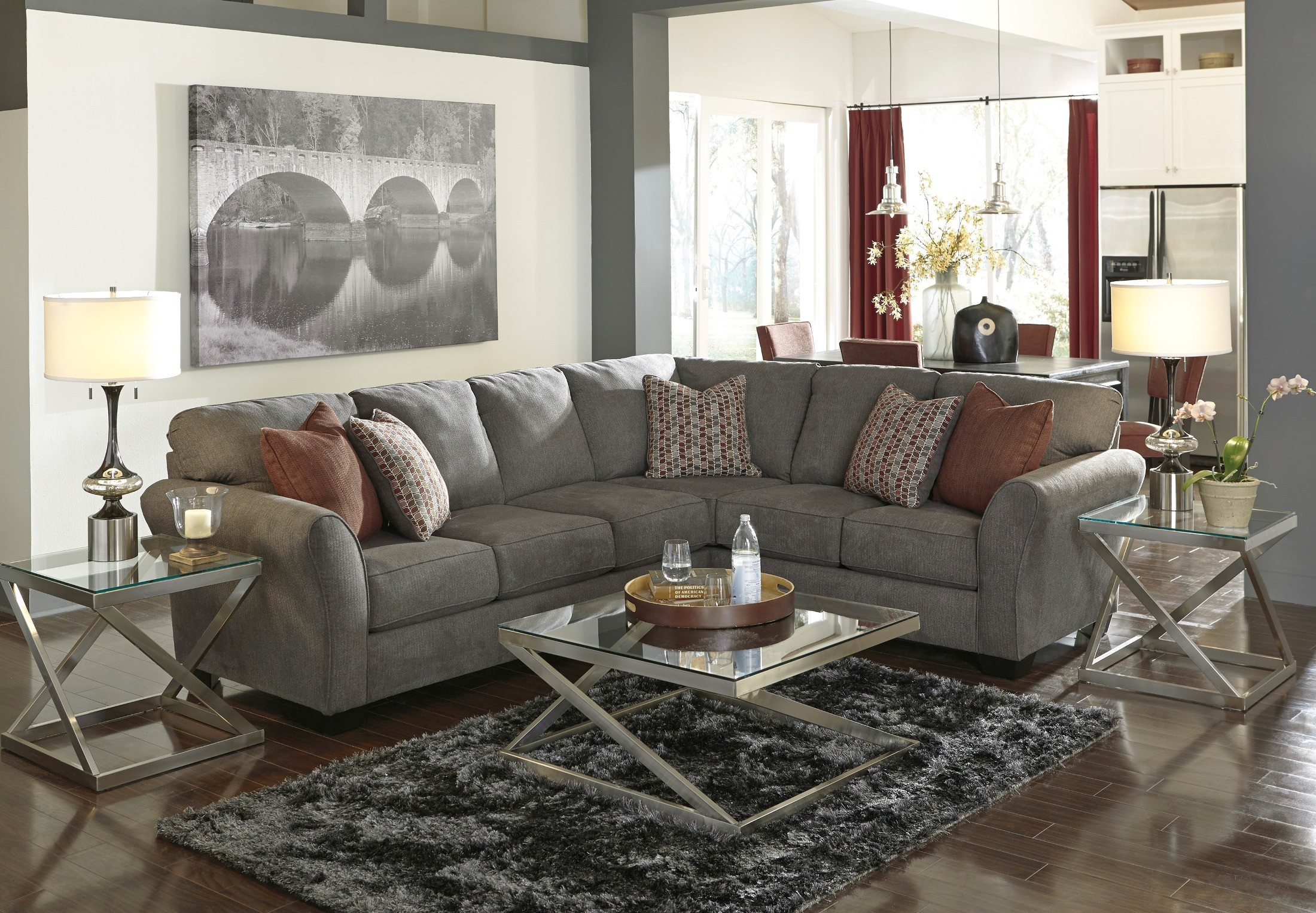 Doralin Steel Raf Sectional From Ashley 86800 49 66
