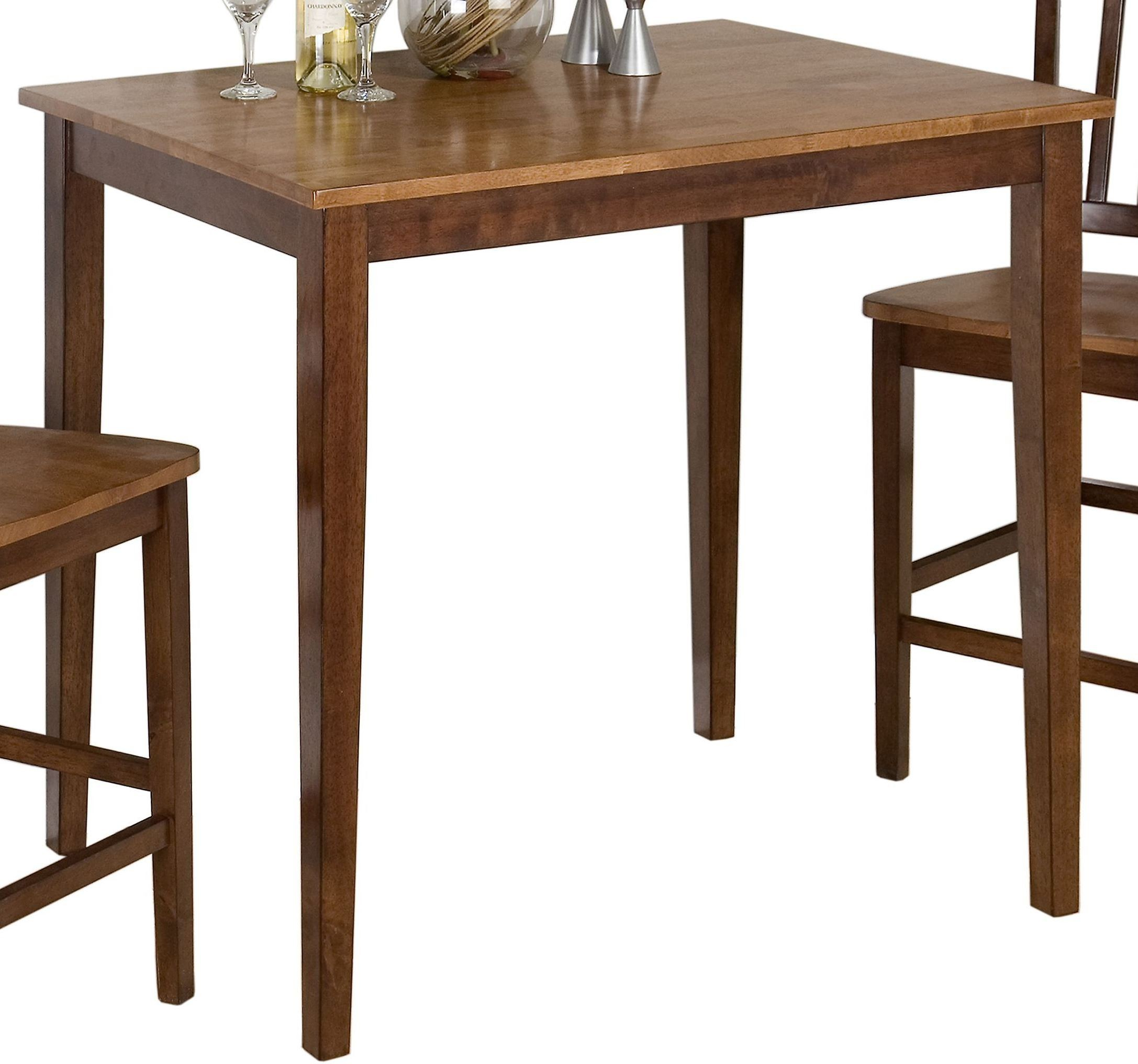 Kura espresso and canyon gold counter height dining table for Espresso dining table