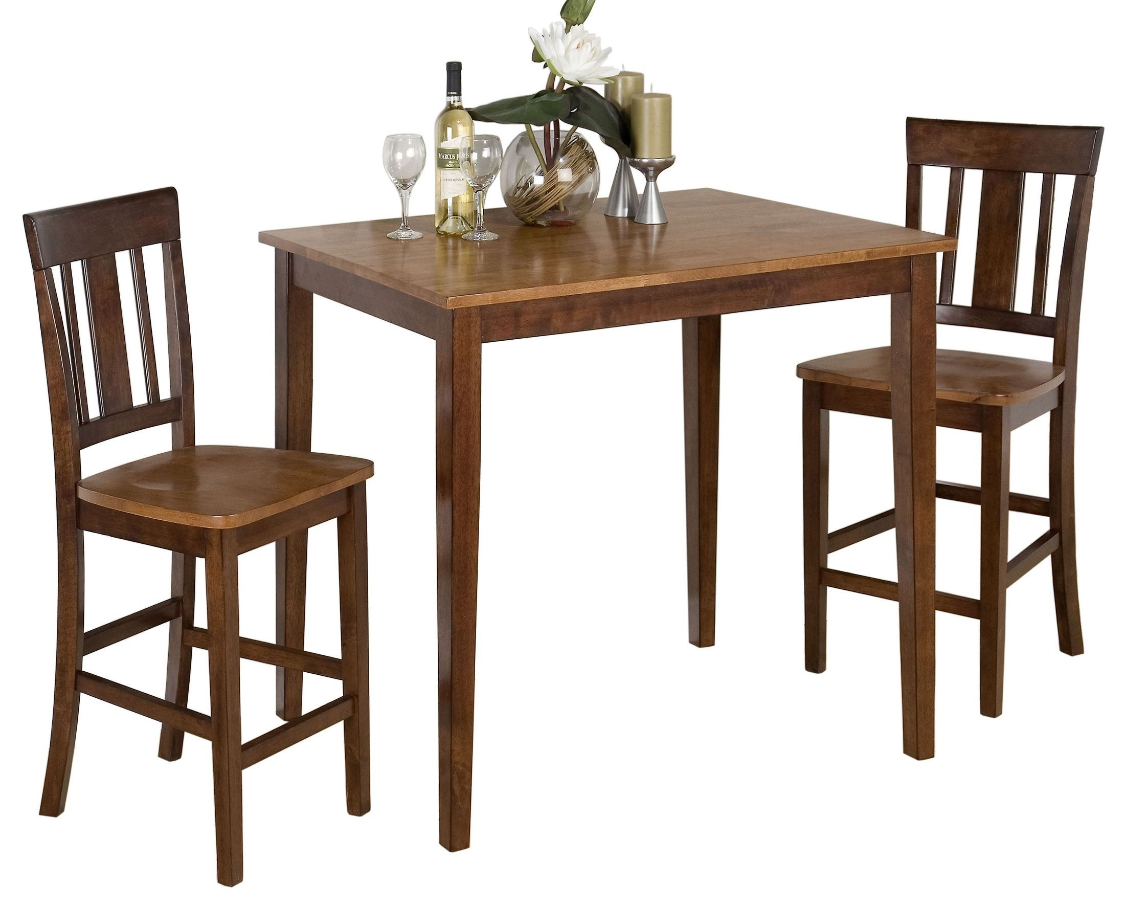 Counter Height Espresso Table : Kura Espresso and Canyon Gold Counter Height Dining Table, 875-30 ...