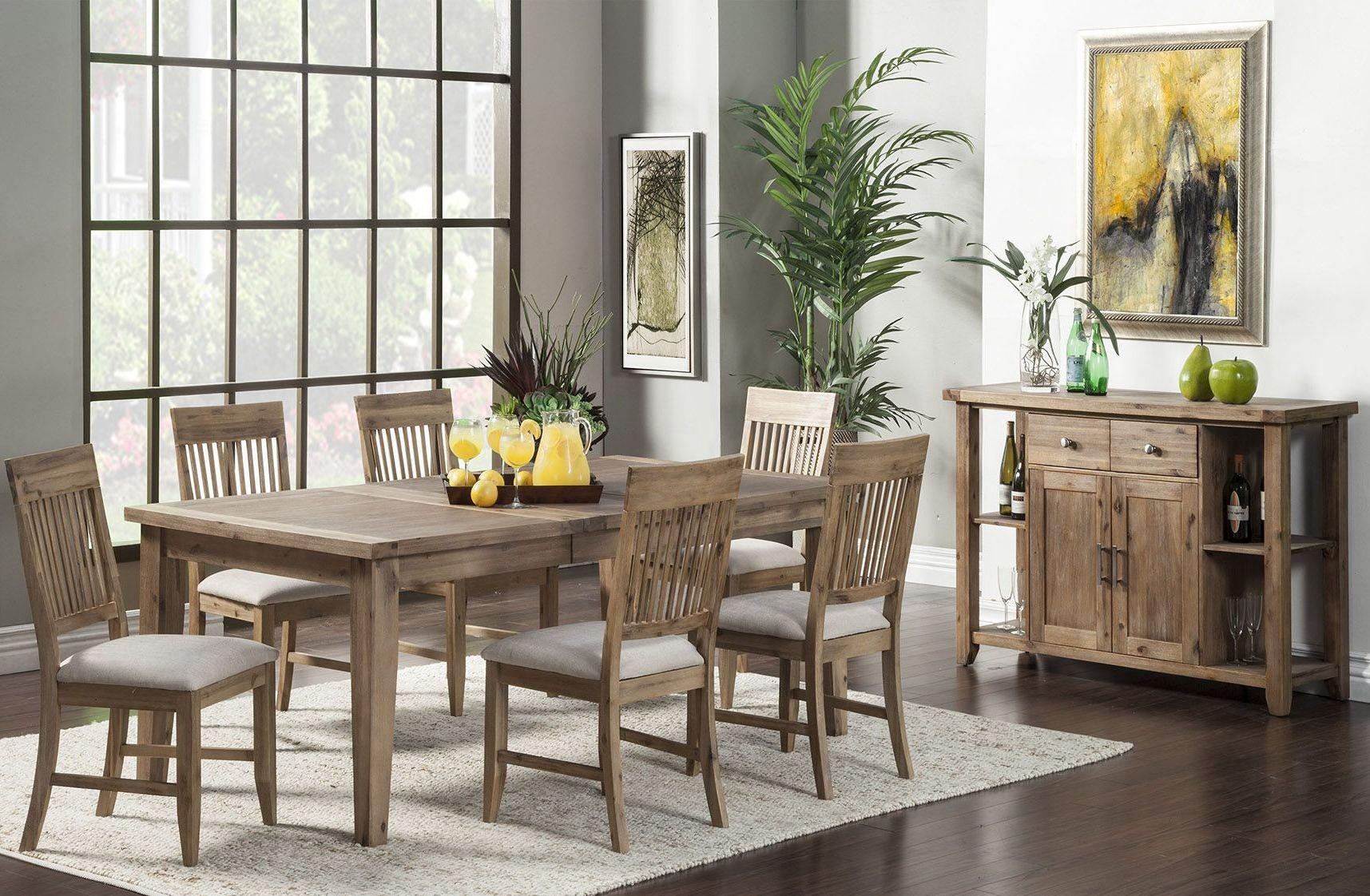 aspen natural extendable dining room set 2524558 alpine