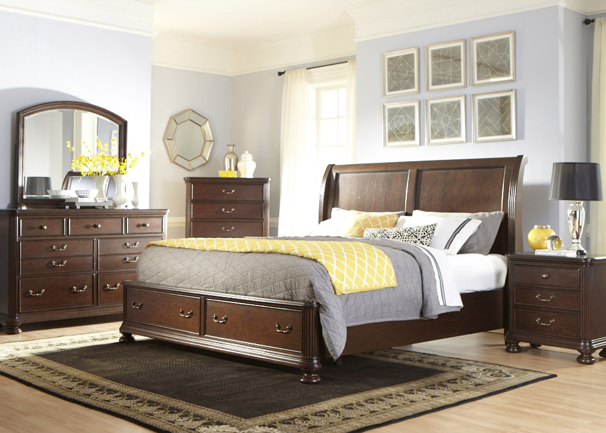 Covington place sleigh bedroom set 888 br qsl liberty for Places to get bedroom sets