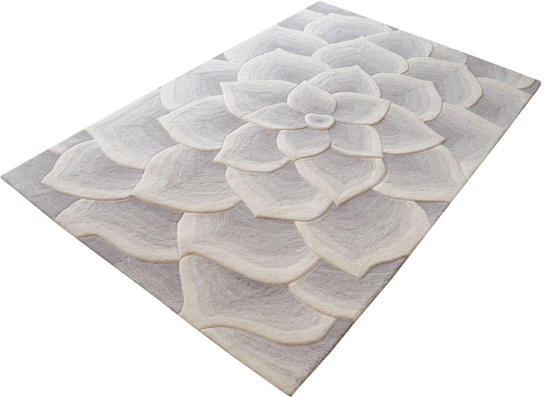 kallista handtufted wool grey and white small rug 8905 040 dimond home. Black Bedroom Furniture Sets. Home Design Ideas