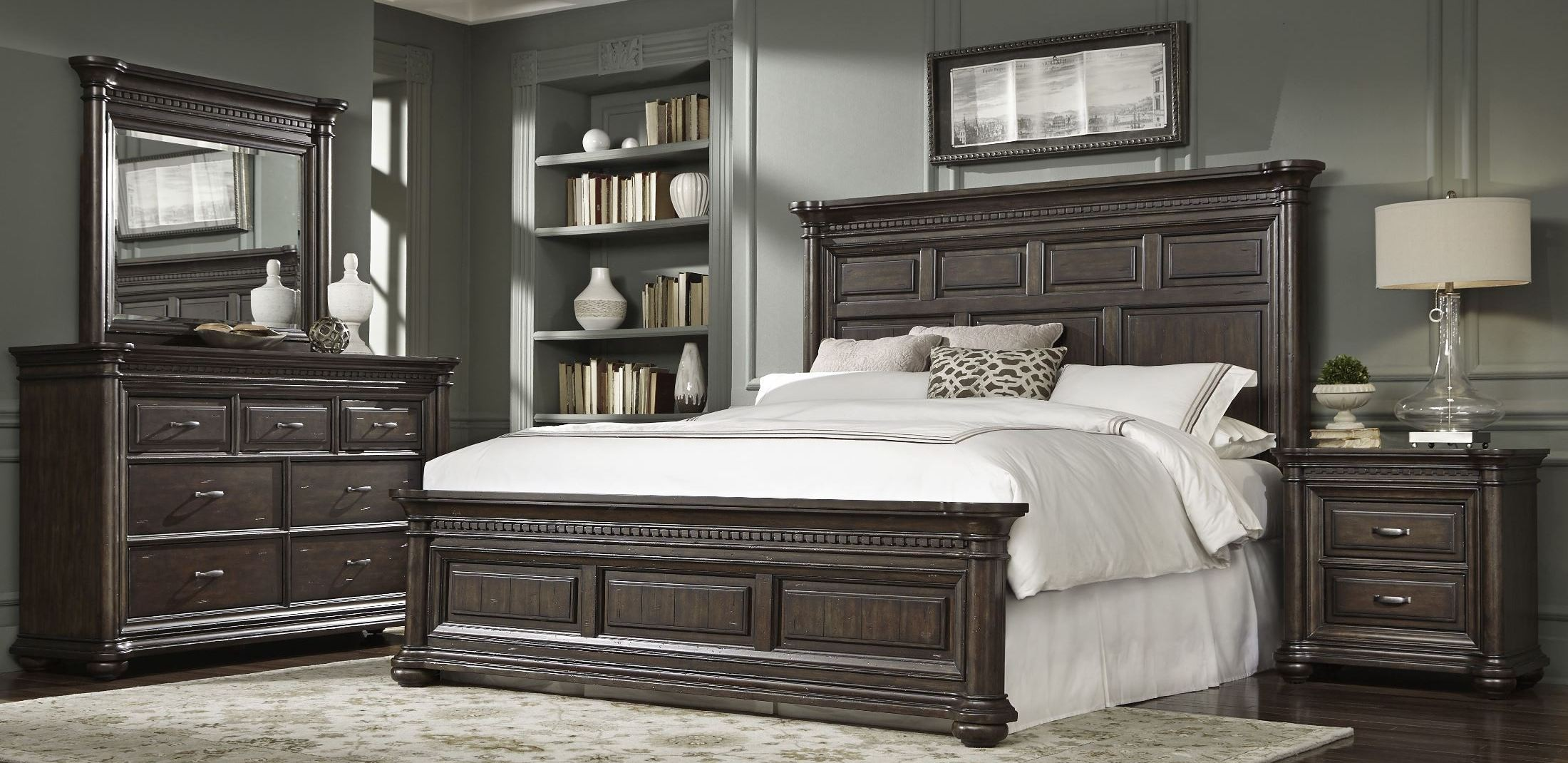 Grand Manor Panel Bedroom Set From Samuel Lawrence 8920 250 251 400 Coleman Furniture