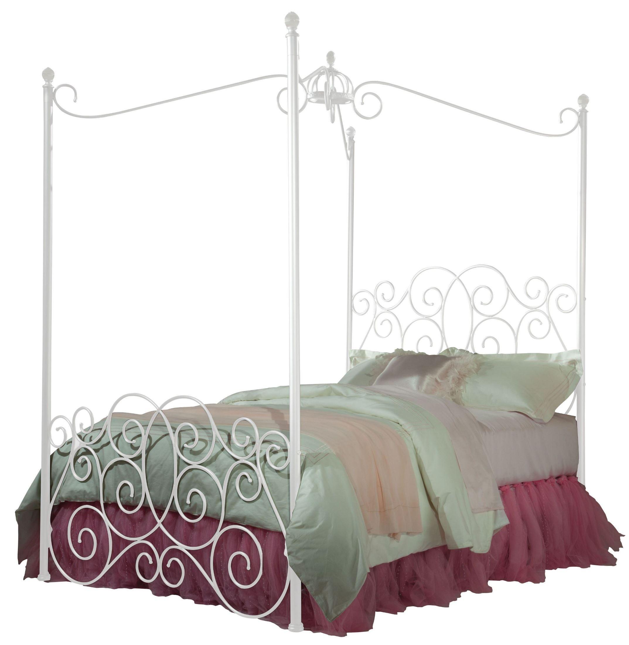 princess white twin metal canopy bed 900 31 32 35 standard furniture. Black Bedroom Furniture Sets. Home Design Ideas