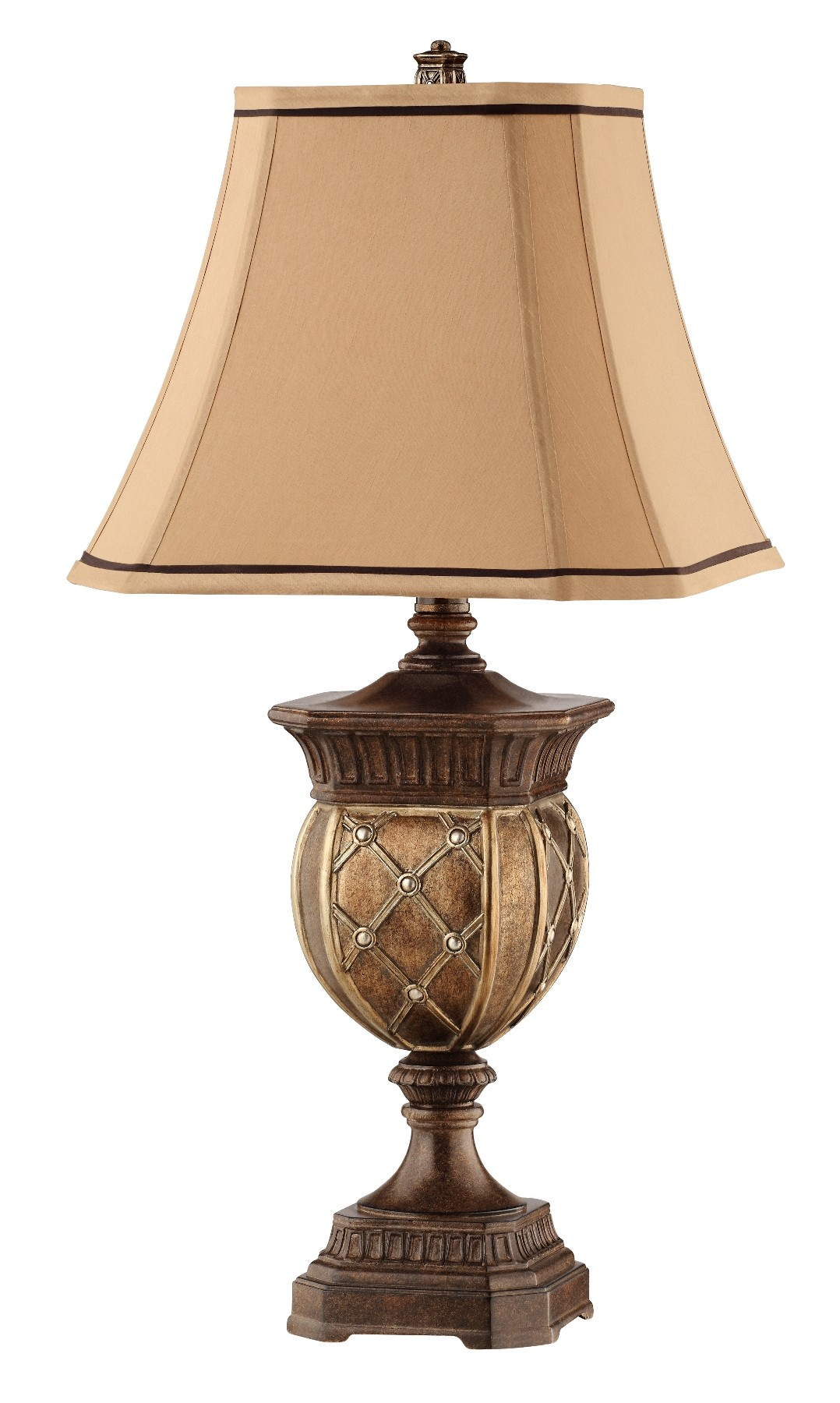 gold and bronze resin table lamp from steinworld 90012. Black Bedroom Furniture Sets. Home Design Ideas