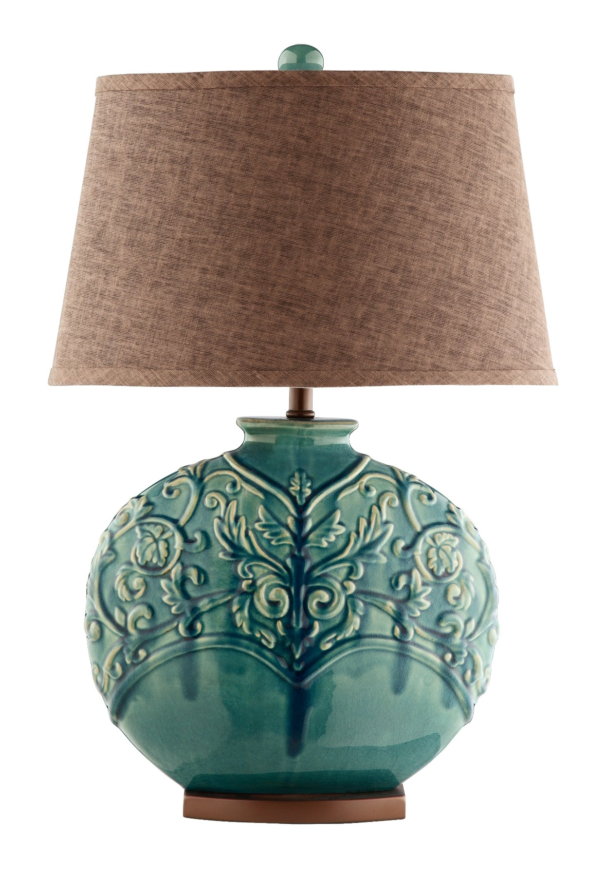 Ceramic Table Lamps : Turquoise green ceramic table lamp from steinworld