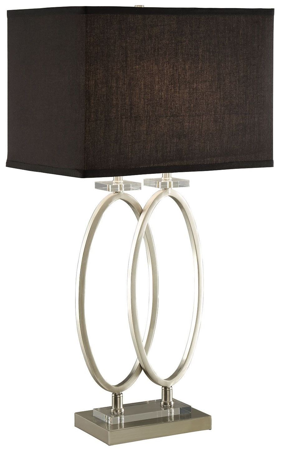 brushed nickel table lamp from coaster 901662 coleman furniture. Black Bedroom Furniture Sets. Home Design Ideas