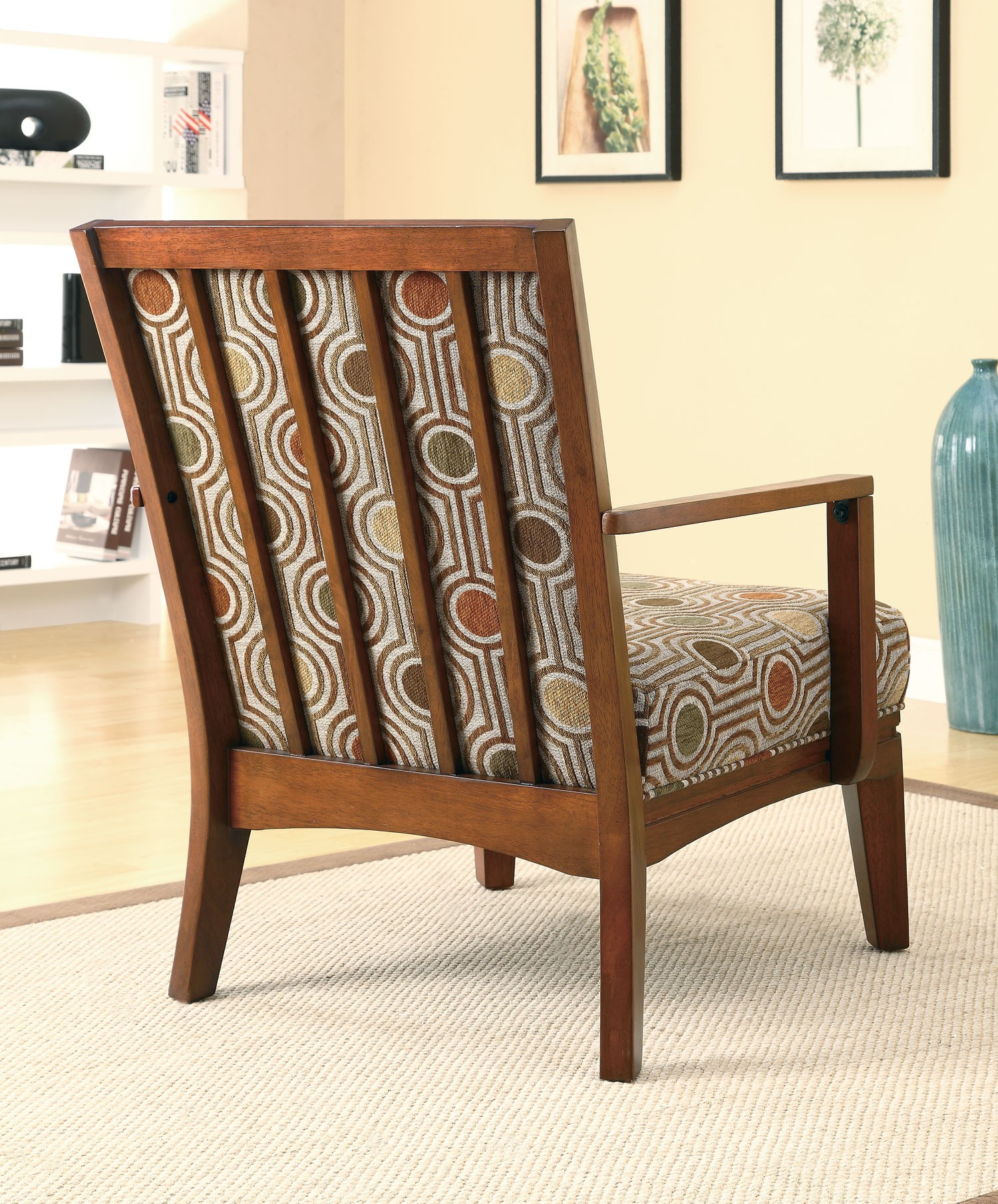 geometric circle pattern accent chair 902080 coaster