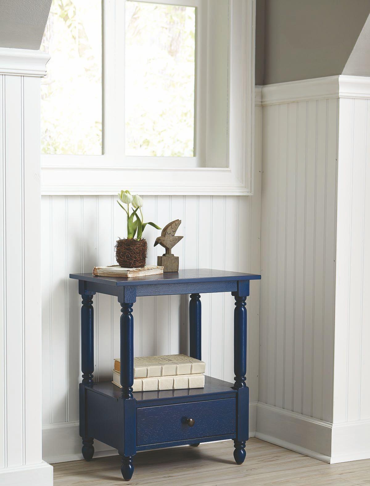 navy blue accent table 902790 coaster furniture. Black Bedroom Furniture Sets. Home Design Ideas