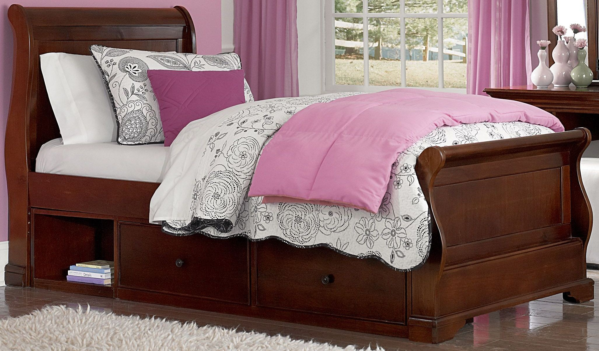 Walnut Street Chestnut Riley Twin Sleigh Bed With Storage