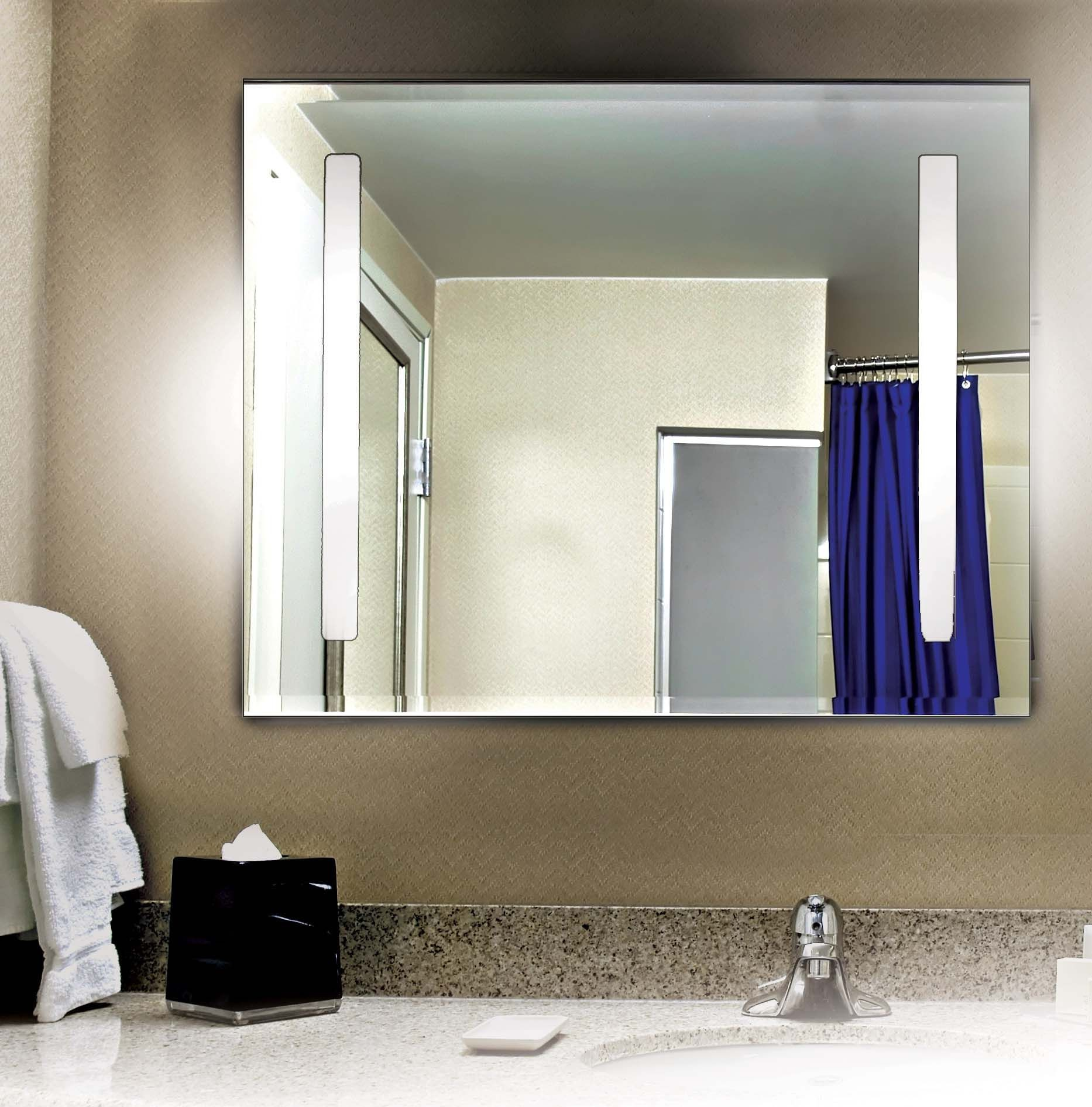 Kenroy Bathroom Vanity Light: Rifletta 2 Light Large Vanity Mirror From Kenroy (90831