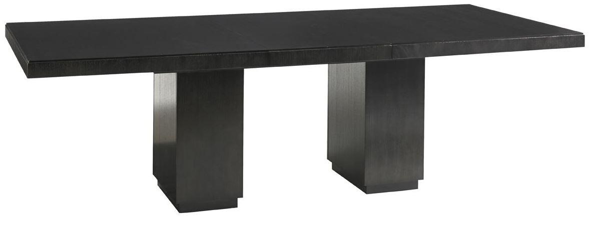 Carrera modena rectangular extendable double pedestal dining table from lexington 911 876c - Pedestal dining table rectangular ...
