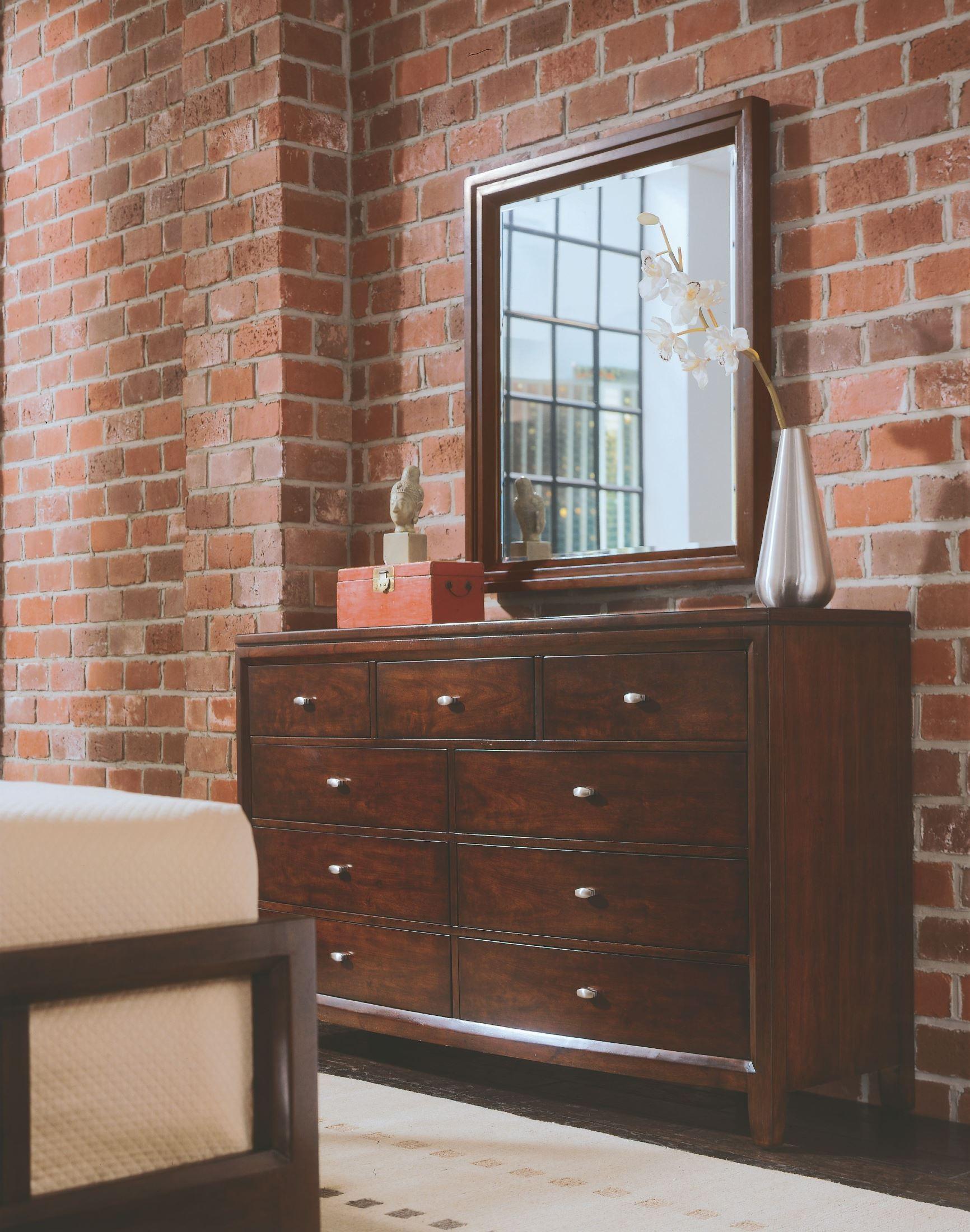 Tribecca Root Beer Slat Bedroom Set 912 323r American Drew