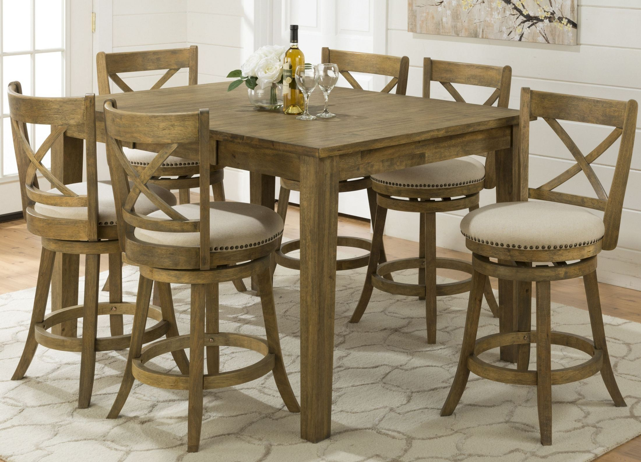 Turner 39 S Landing Extendable Counter Height Dining Room Set 916 60 Jofran
