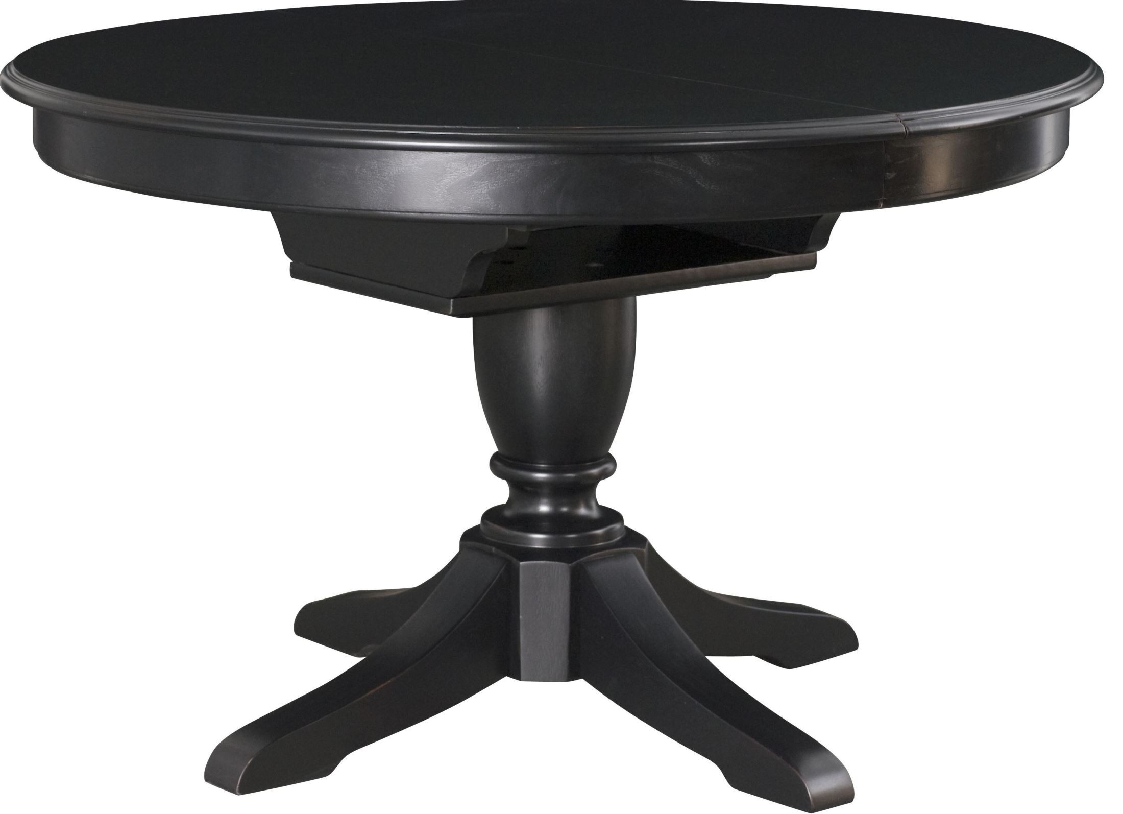 Camden Black Extendable Round Dining Table From American Drew 919 701r Coleman Furniture