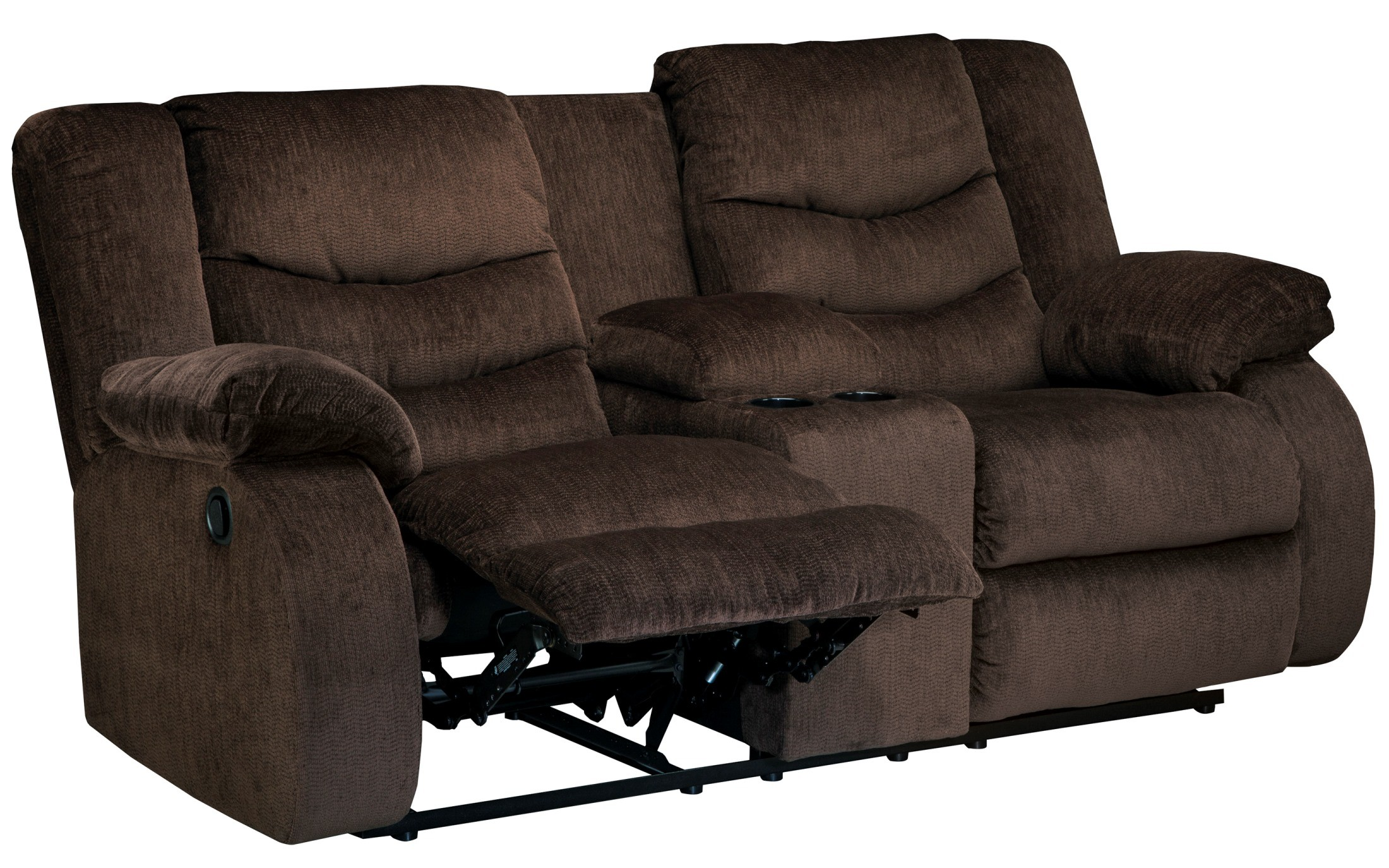 Garek Cocoa Double Power Reclining Loveseat With Console Asl 9200396 Ashley Furniture