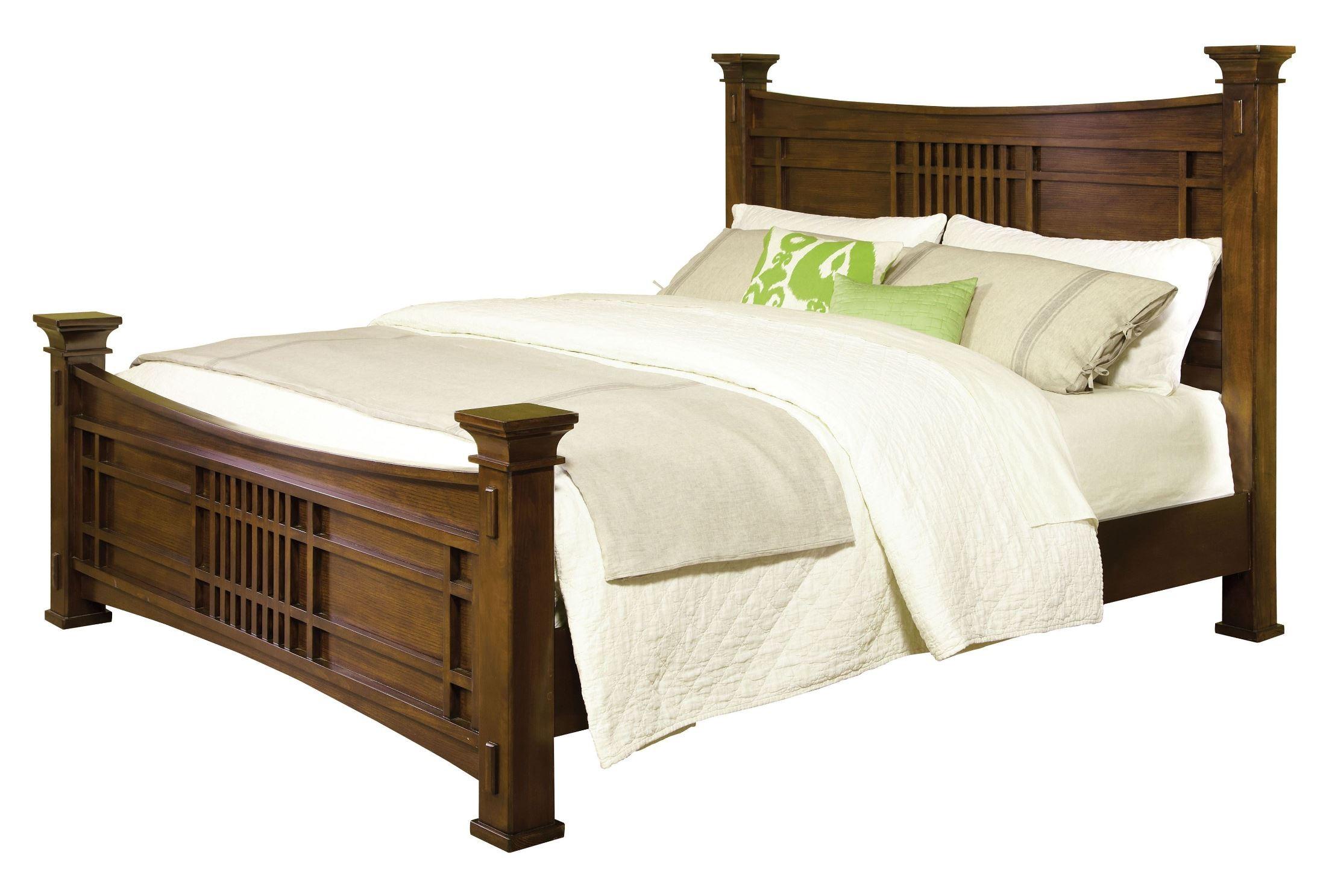 Artisan loft warm medium oak queen column bed from standard 92101 92103 92102 coleman furniture - Medium sized loft houses ...