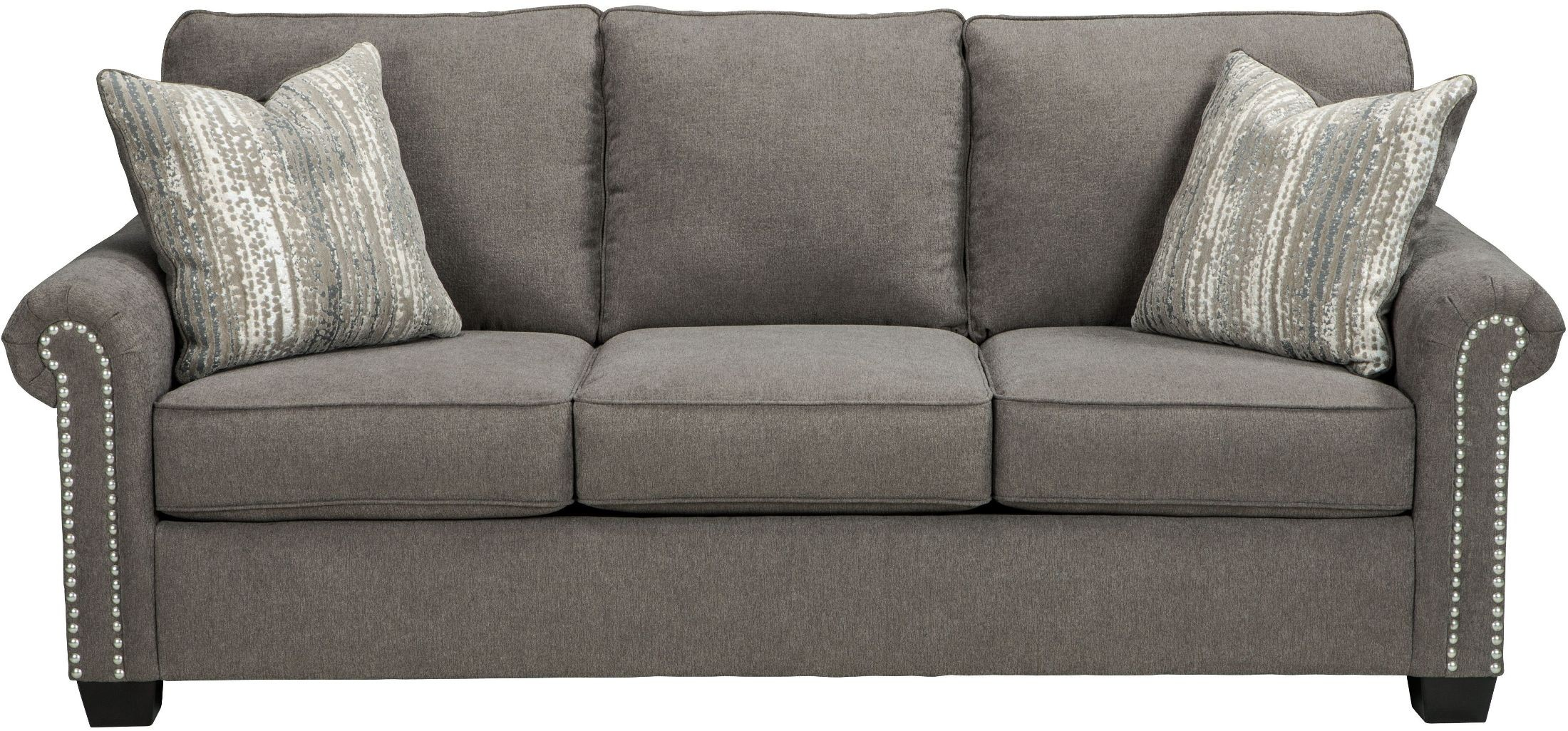 Gilman charcoal living room set 9260238 ashley for Charcoal sofa living room