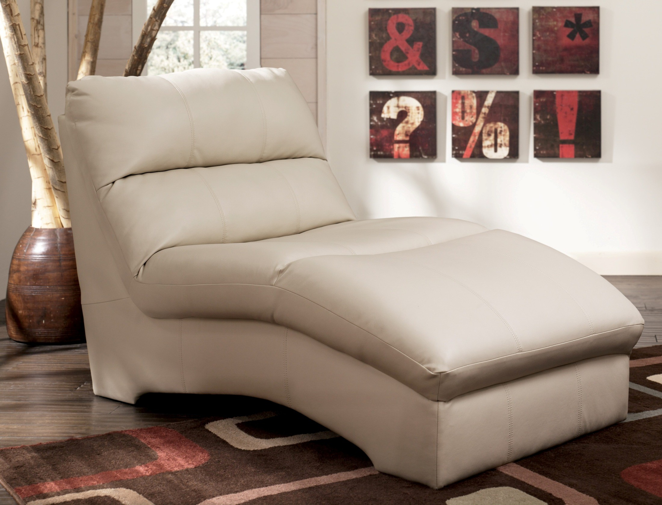 Durablend ivory chaise 9270215 for Ashley durablend chaise
