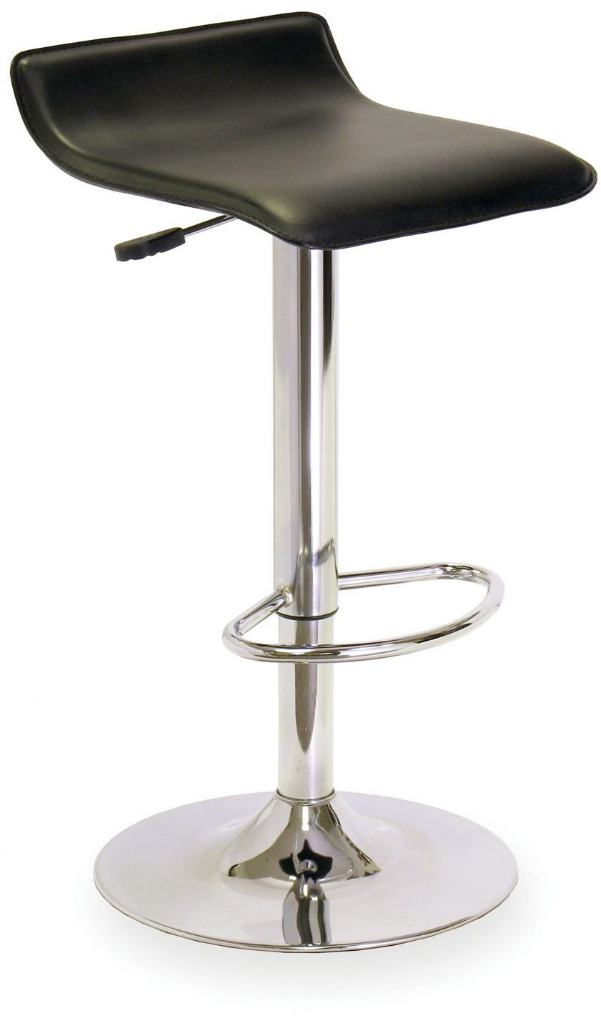 Spectrum Black Upholstered Airlift Swivel Stool 93129