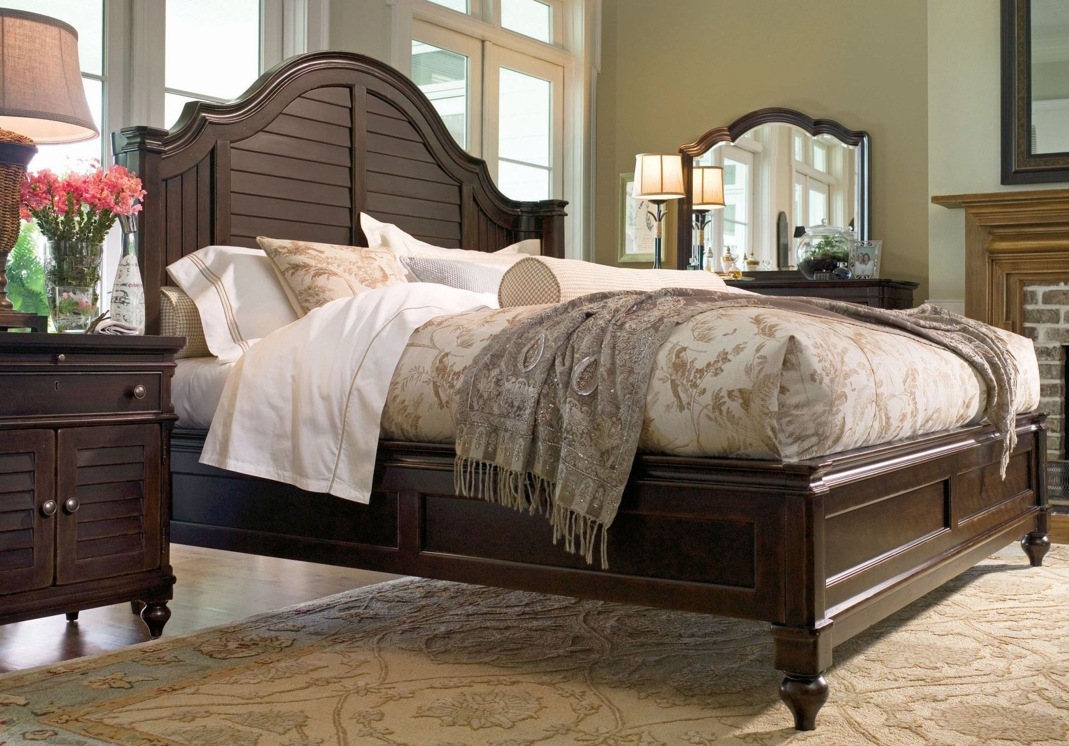 Paula deen home tobacco steel magnolia bedroom set from - Paula deen bedroom furniture collection ...