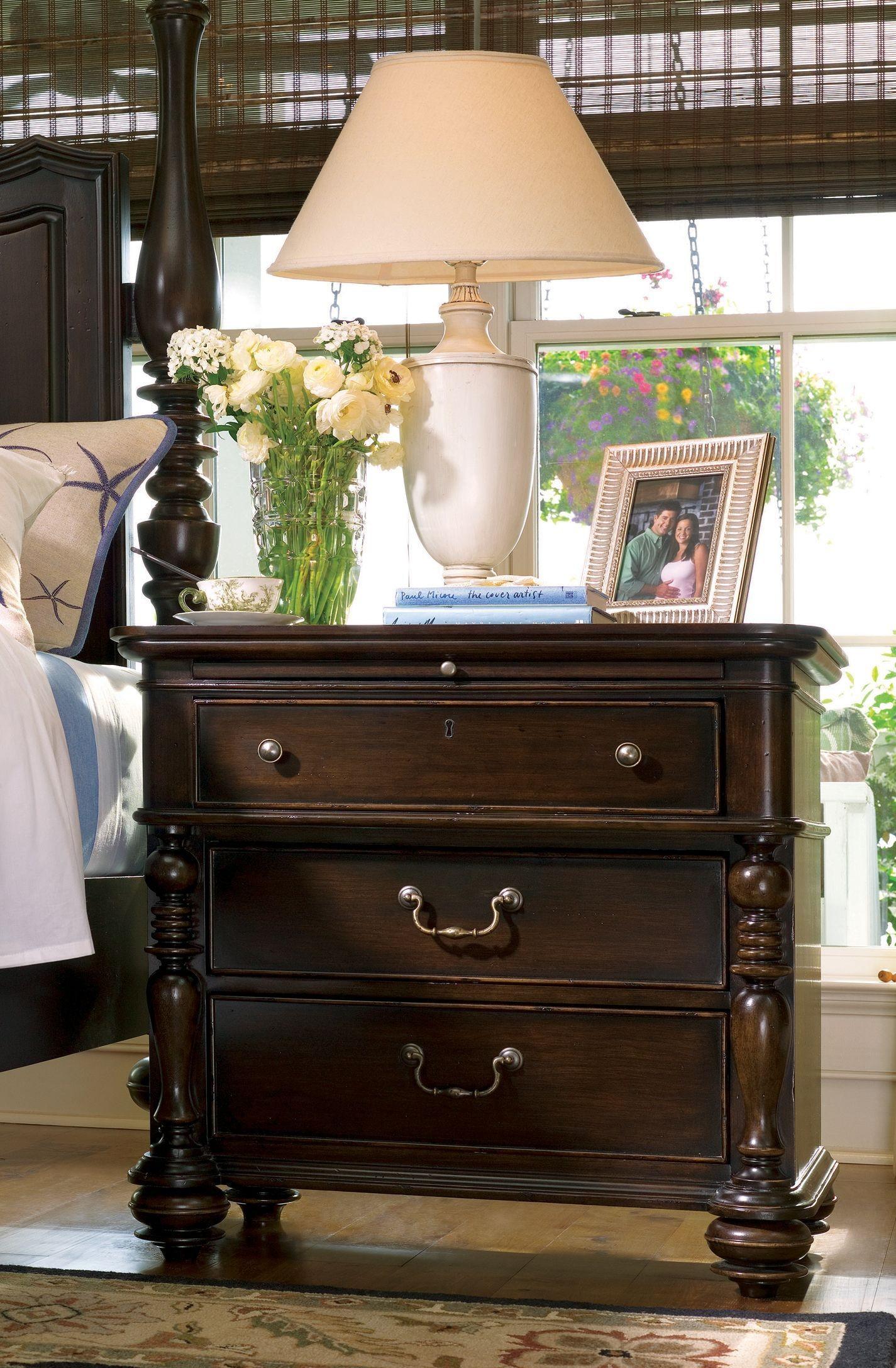 Paula Deen Home Tobacco 3 Drawer Nightstand From Paula Deen 932350 Coleman Furniture