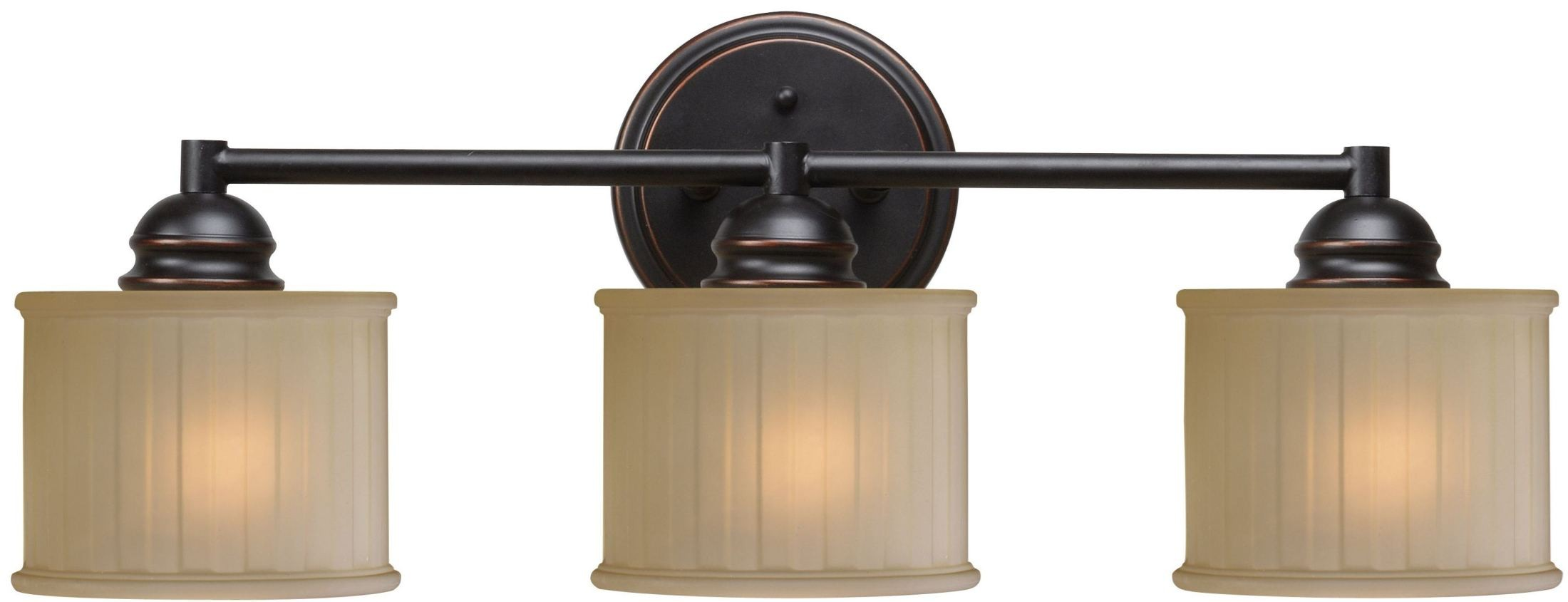 Vanity Lights Oil Rubbed Bronze : Barney Oil Rubbed Bronze 3 Light Vanity, 93573ORB, Kenroy Home