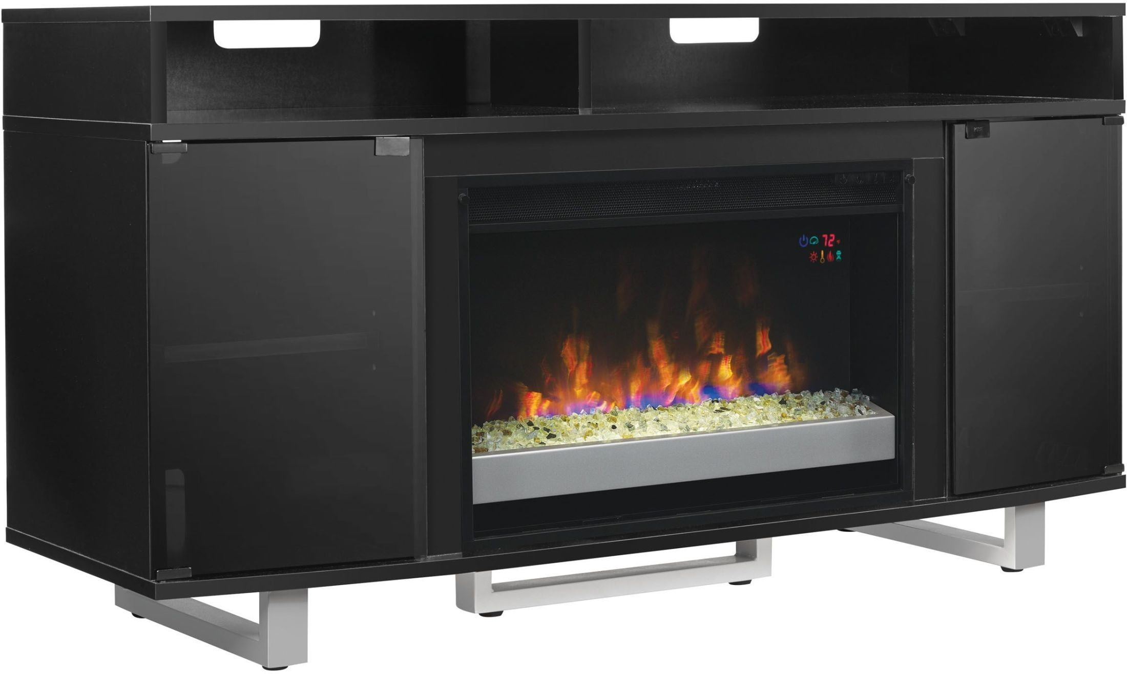 Classicflame Black Enterprise Lite Tv Stand With 26 Electric Fireplace 94042 Tco Twin Star