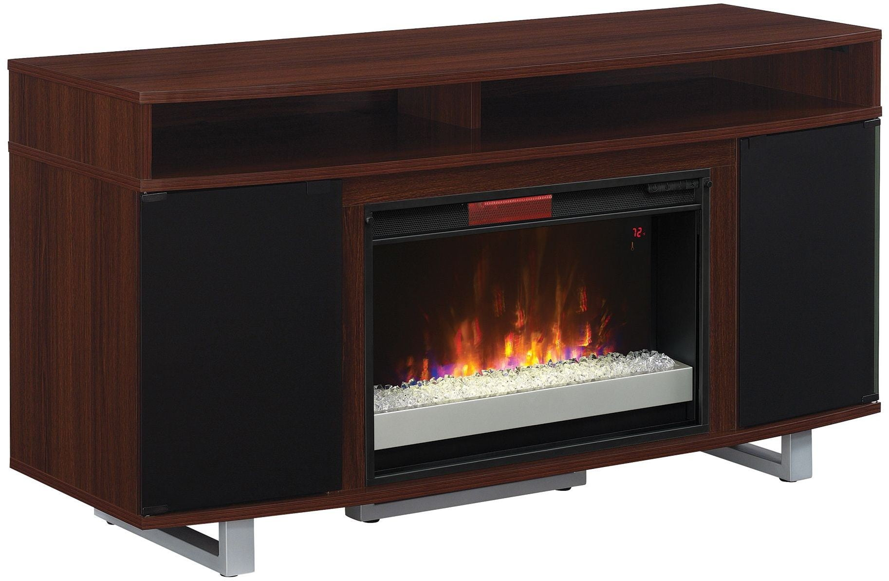 Classicflame High Gloss Cherry Enterprise Lite Tv Stand With 26 Infrared Quartz Electric