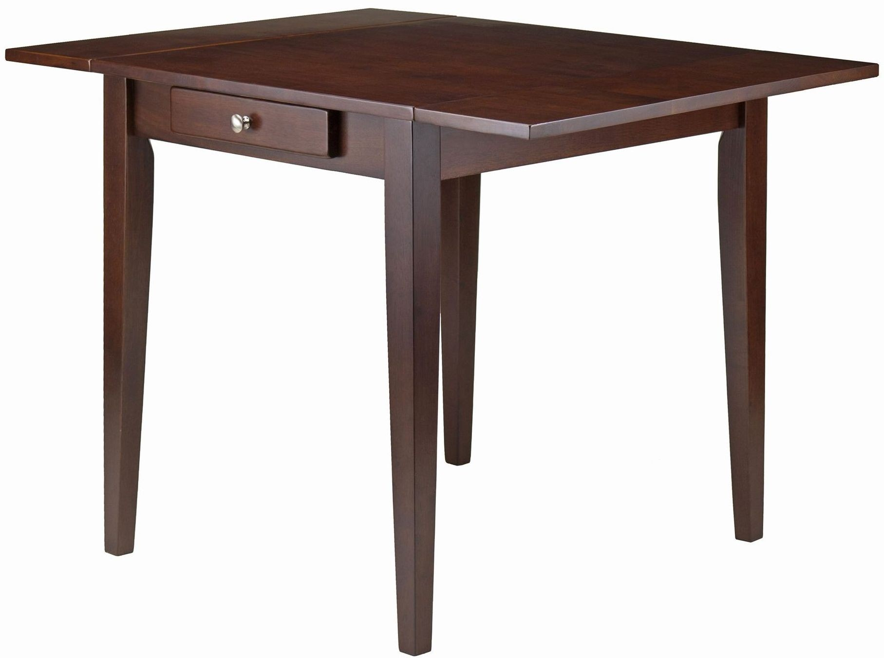 hamilton antique walnut double drop leaf dining table 94141 winsome. Black Bedroom Furniture Sets. Home Design Ideas