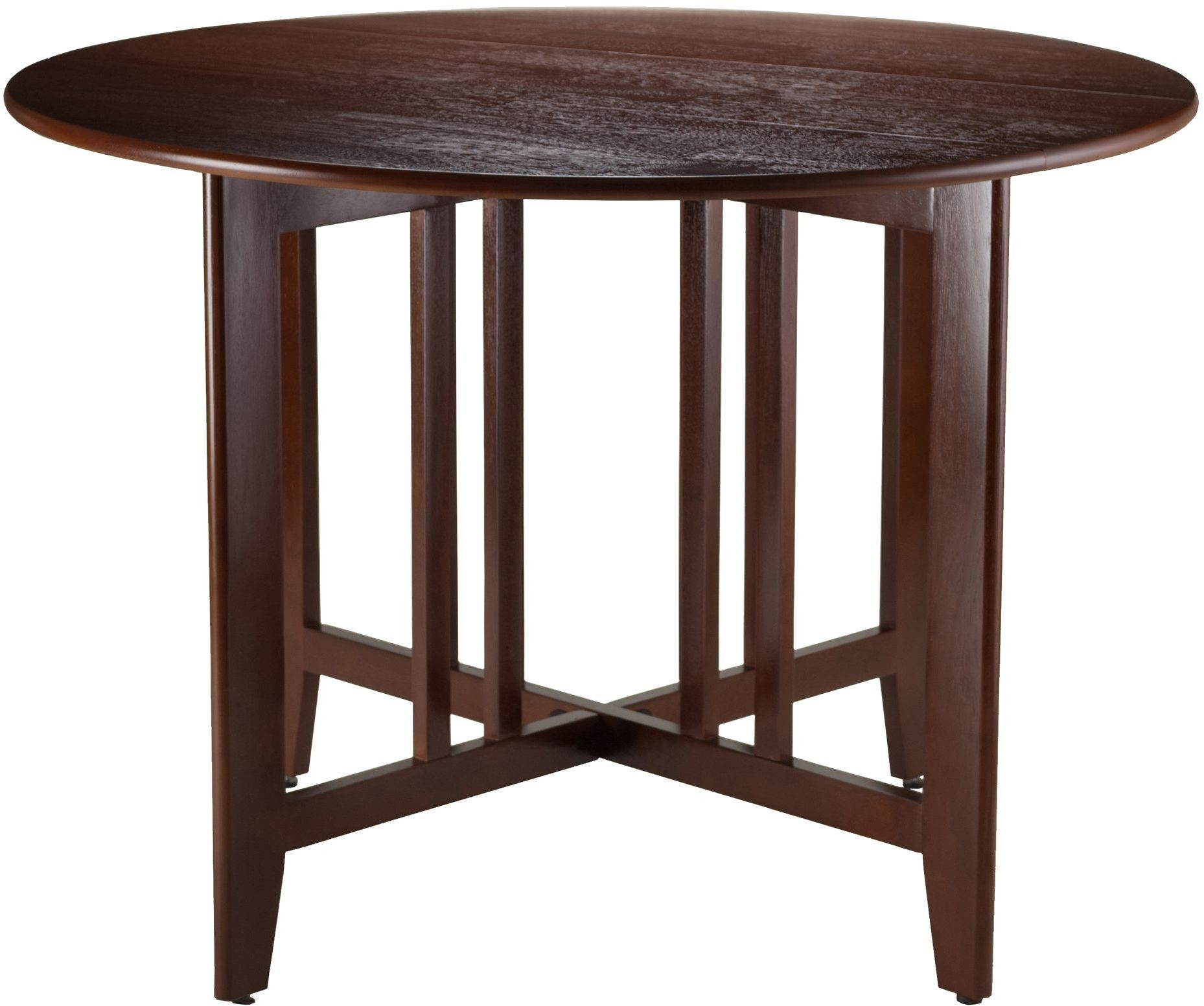 Alamo 42 double drop leaf round dining table 94142 winsome for Round drop leaf dining table