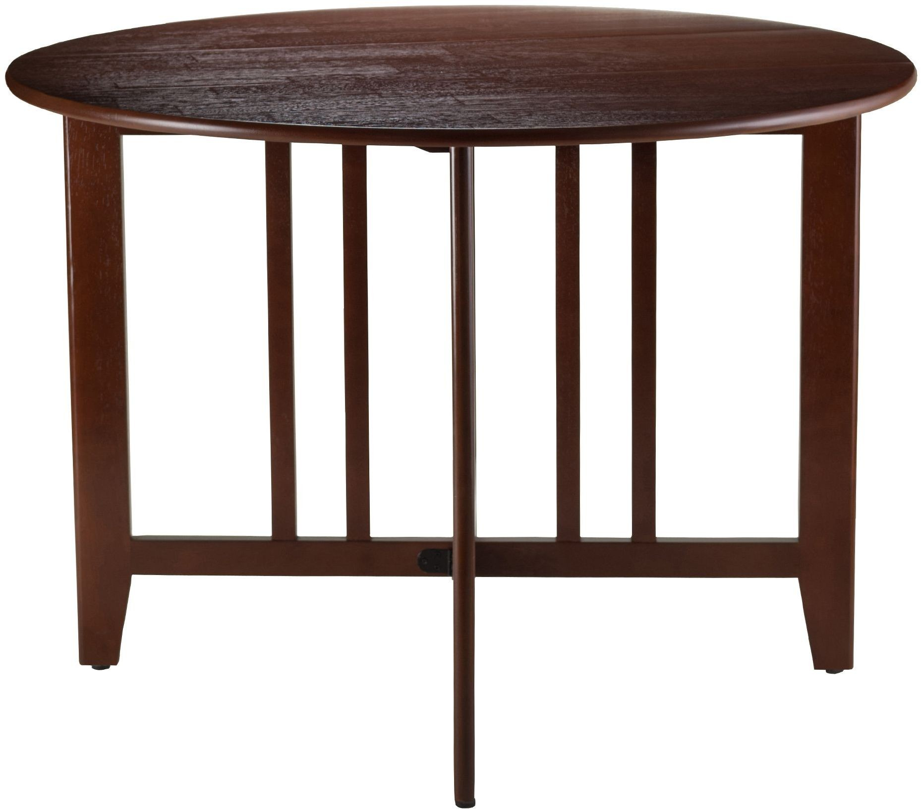 Alamo 42 Double Drop Leaf Round Dining Table 94142 Winsome