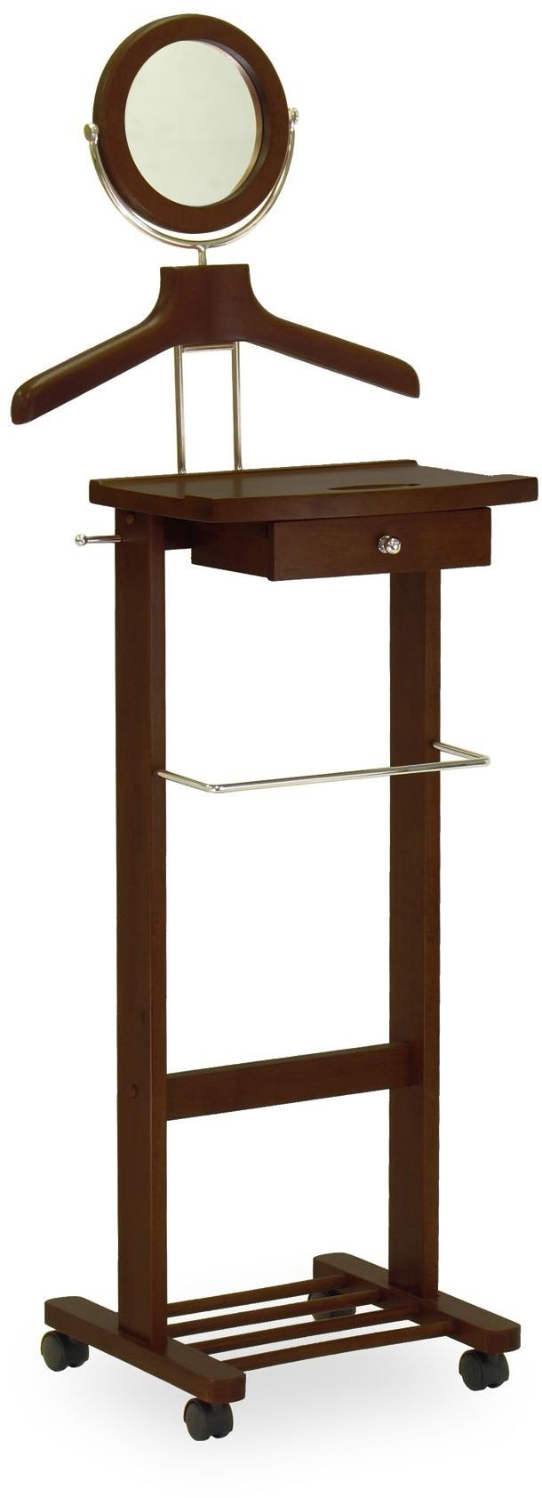 Vanity antique walnut valet stand 94155 winsome for Vanity stand
