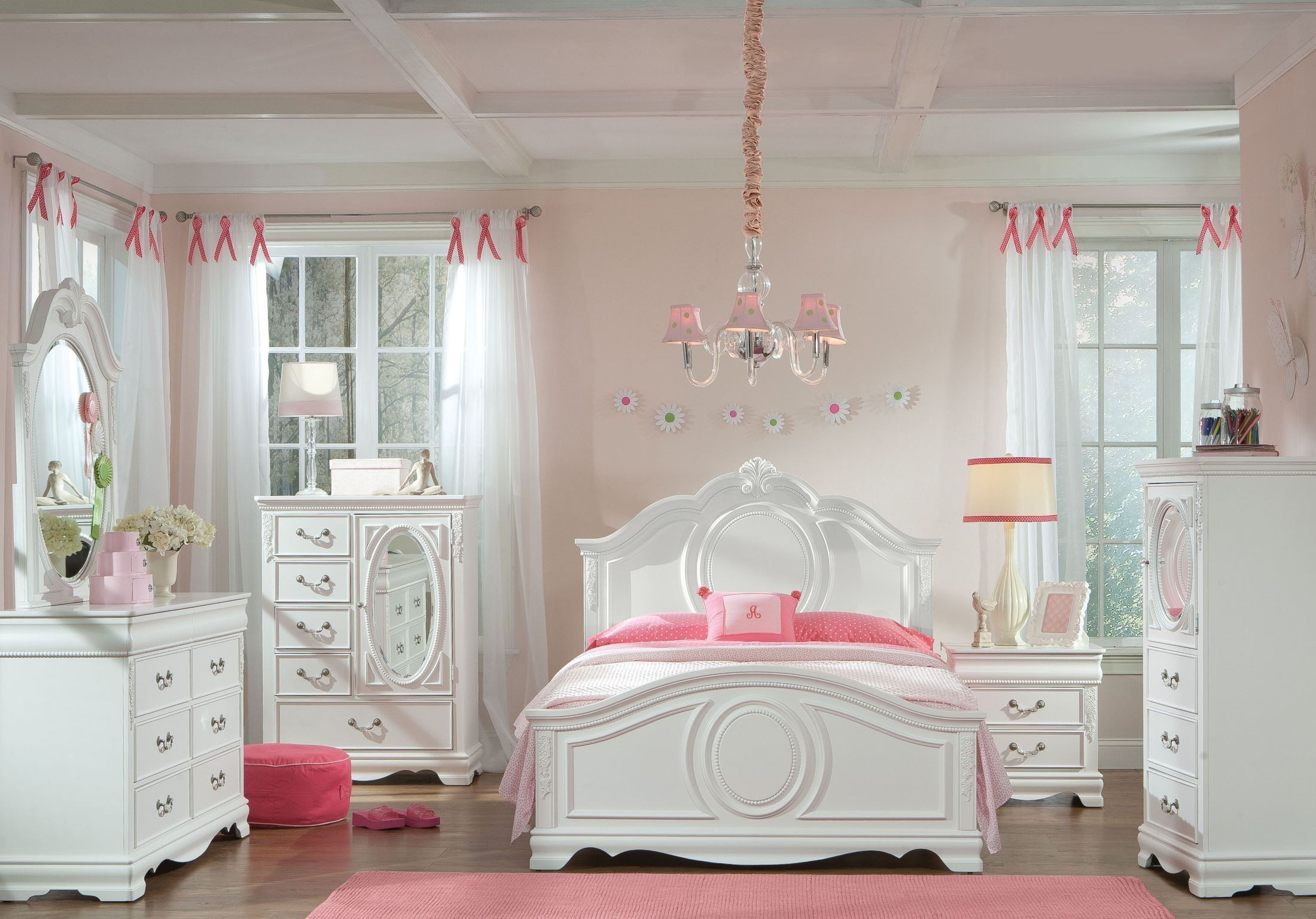 furniture bedroom sets jessica clean white youth panel bedroom set