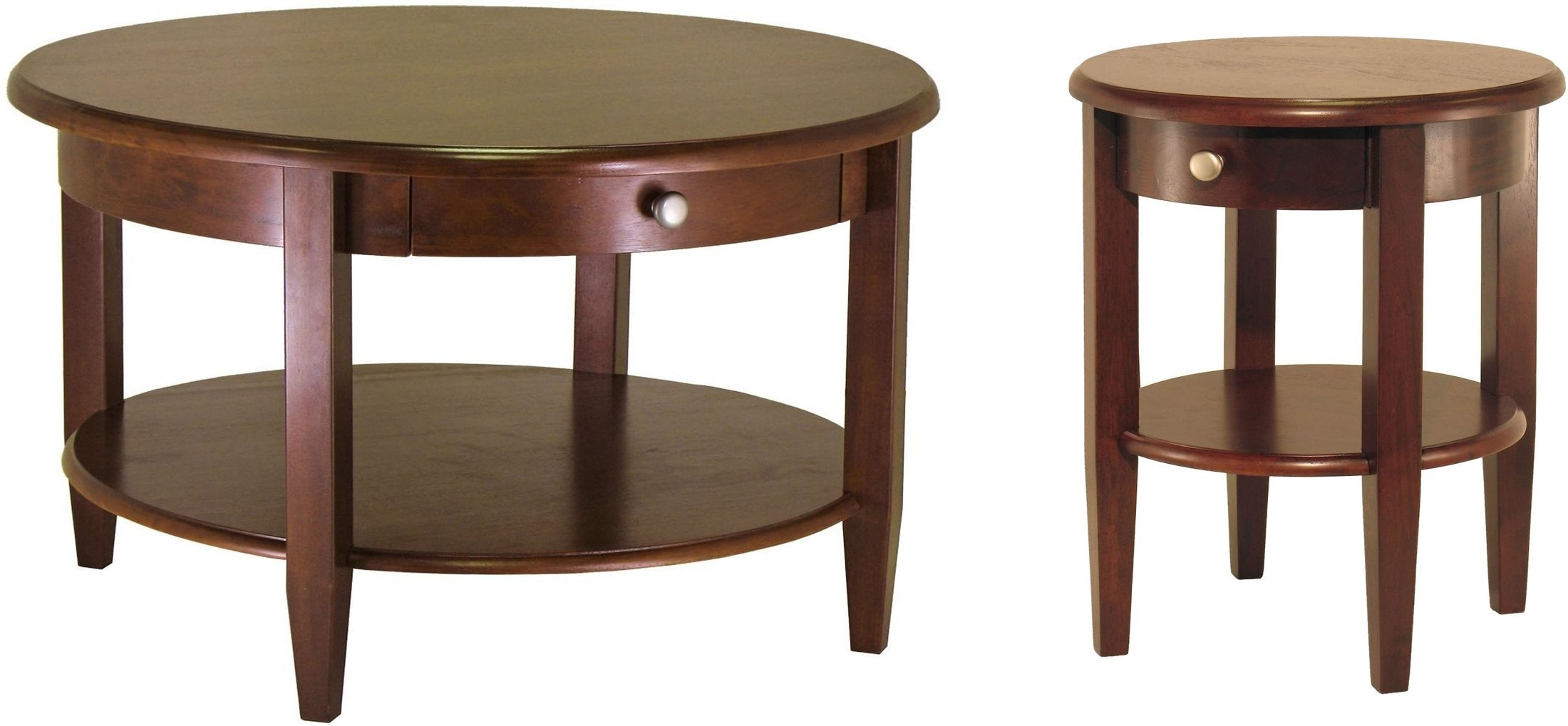 Concord Drawer Round Coffee Table 94231 Winsome