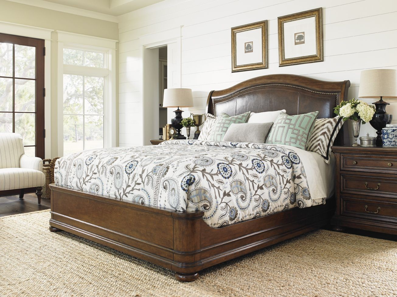 coventry hills autumn brown chandler mills sleigh bedroom